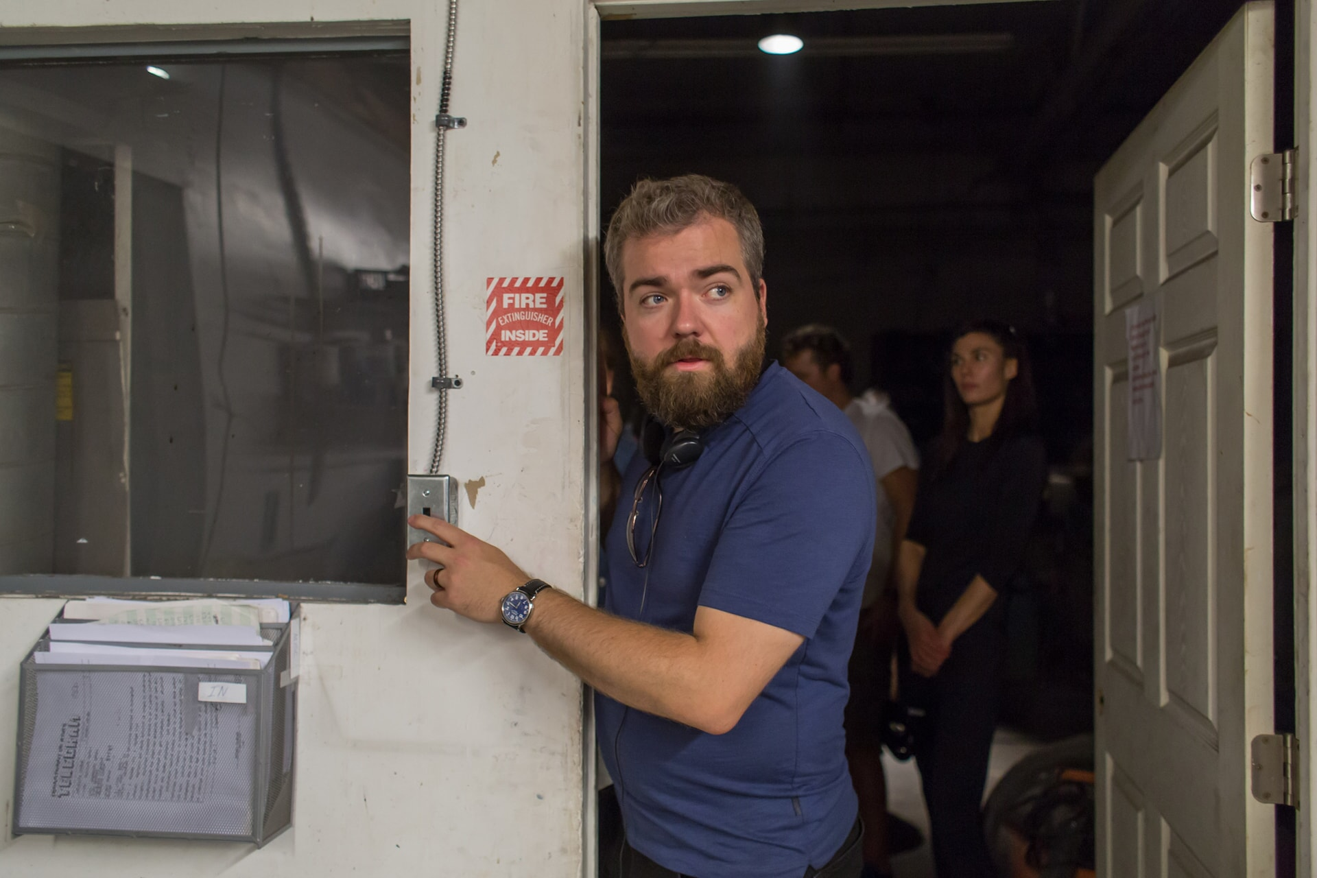 Director DAVID F. SANDBERG on the set
