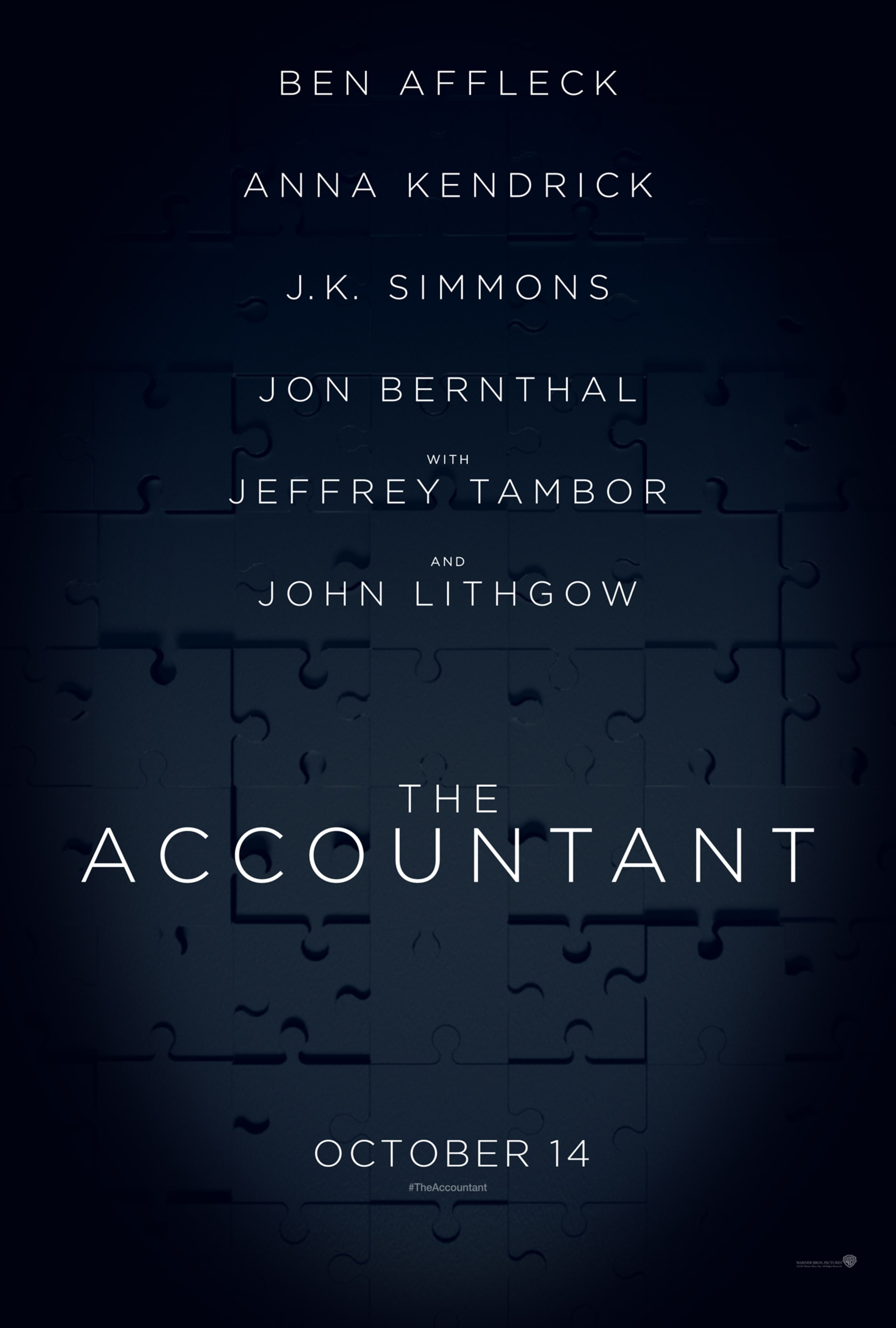 The Accountant poster logo with cast info and release date