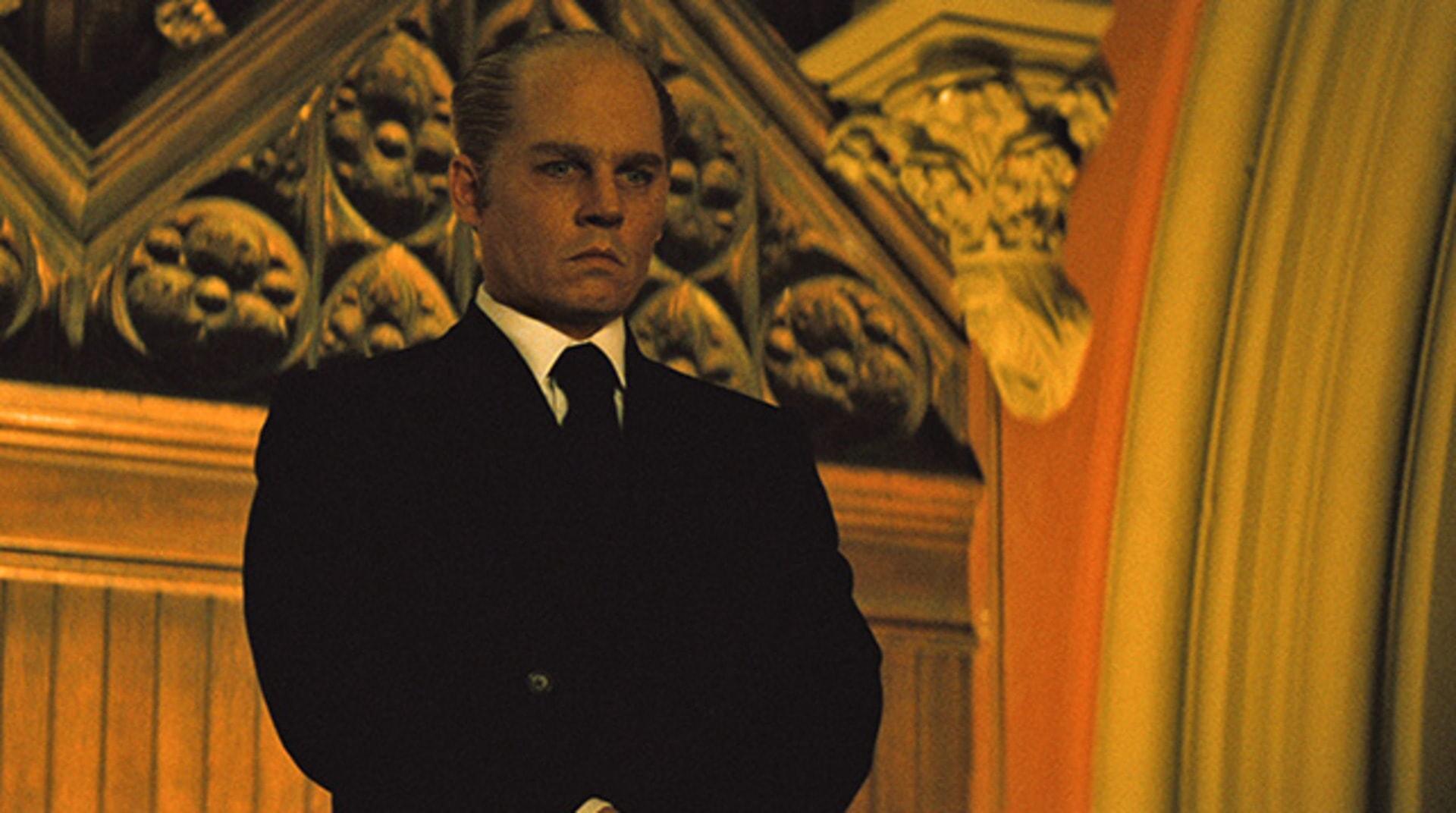 "JOHNNY DEPP as Whitey Bulger in the drama ""BLACK MASS."""