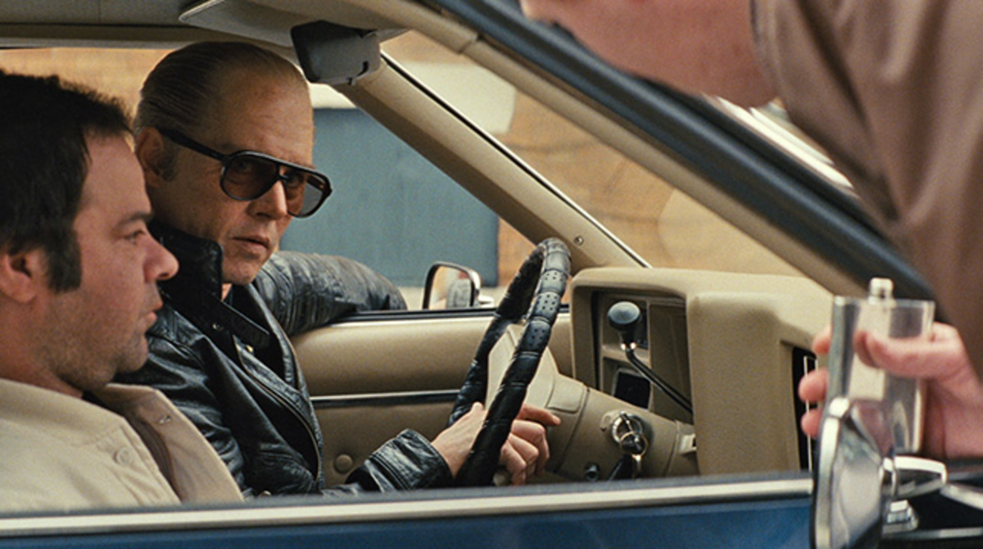 """RORY COCHRANE as Stephen Flemmi and JOHNNY DEPP as Whitey Bulger in the drama """"BLACK MASS."""""""