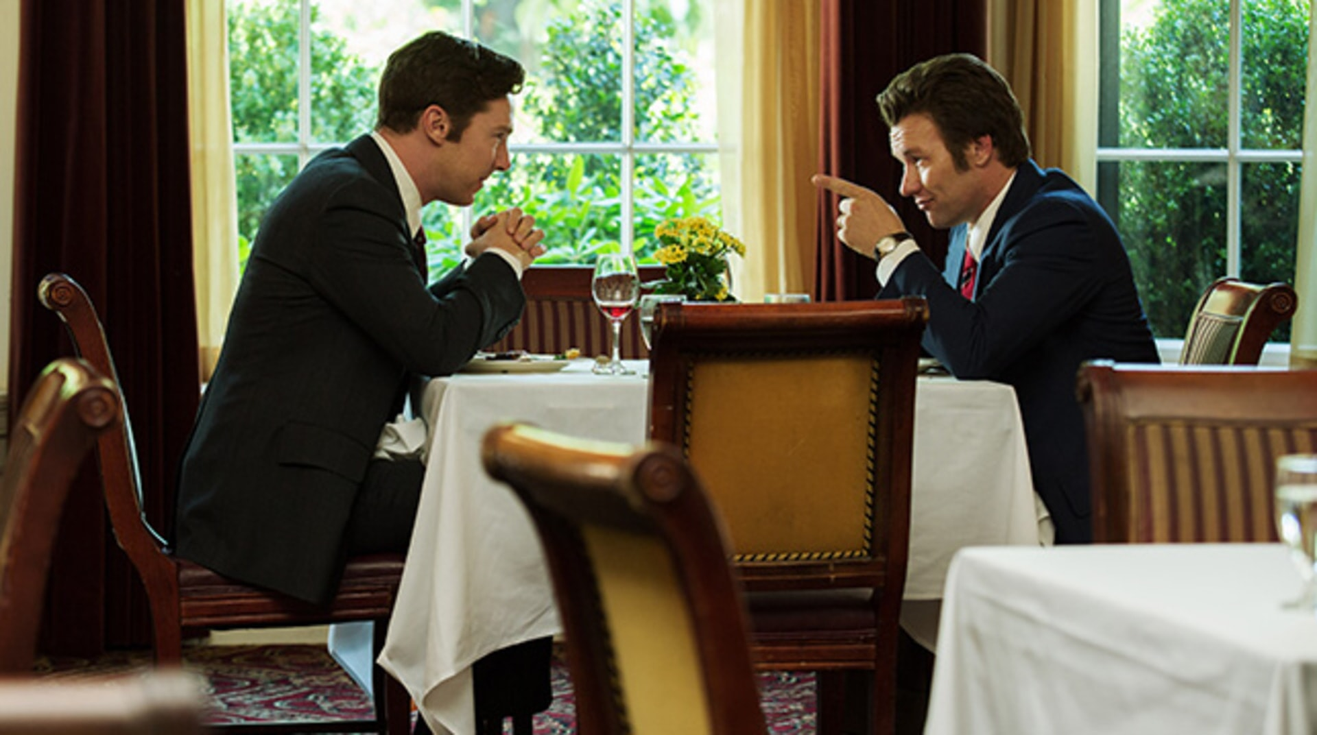 """BENEDICT CUMBERBATCH as Billy Bulger and JOEL EDGERTON as John Connolly in the drama """"BLACK MASS."""""""