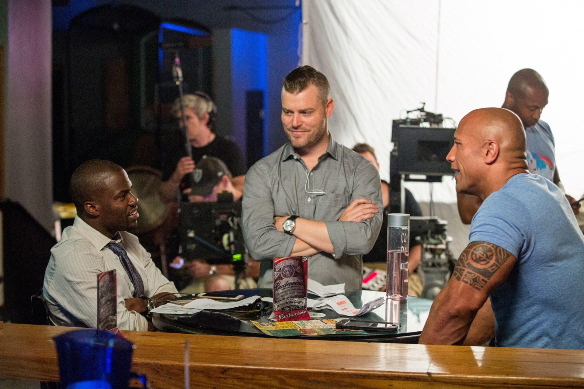 KEVIN HART, director RAWSON MARSHALL THURBER and DWAYNE JOHNSON