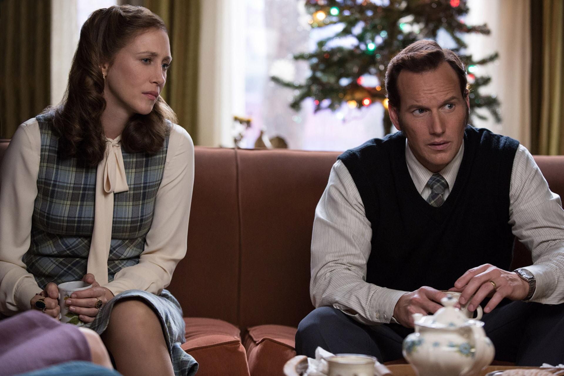 "VERA FARMIGA as Lorraine Warren and PATRICK WILSON as Ed Warren in New Line Cinema's supernatural thriller ""THE CONJURING 2,"" a Warner Bros. Pictures release."