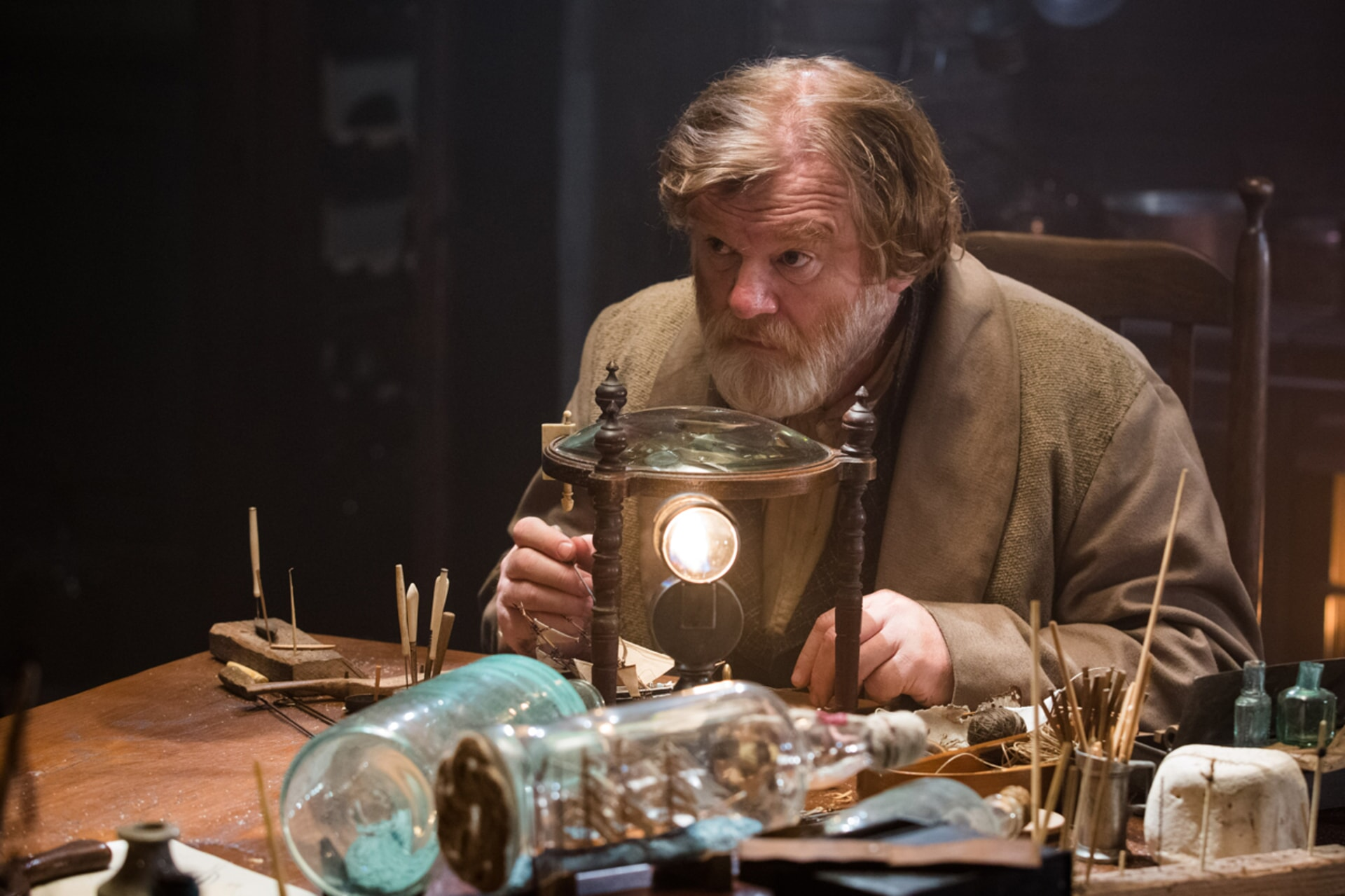 "BRENDAN GLEESON as Tom Nickerson in Warner Bros. Pictures' and Village Roadshow Pictures' action adventure ""IN THE HEART OF THE SEA,"" distributed worldwide by Warner Bros. Pictures and in select territories by Village Roadshow Pictures."