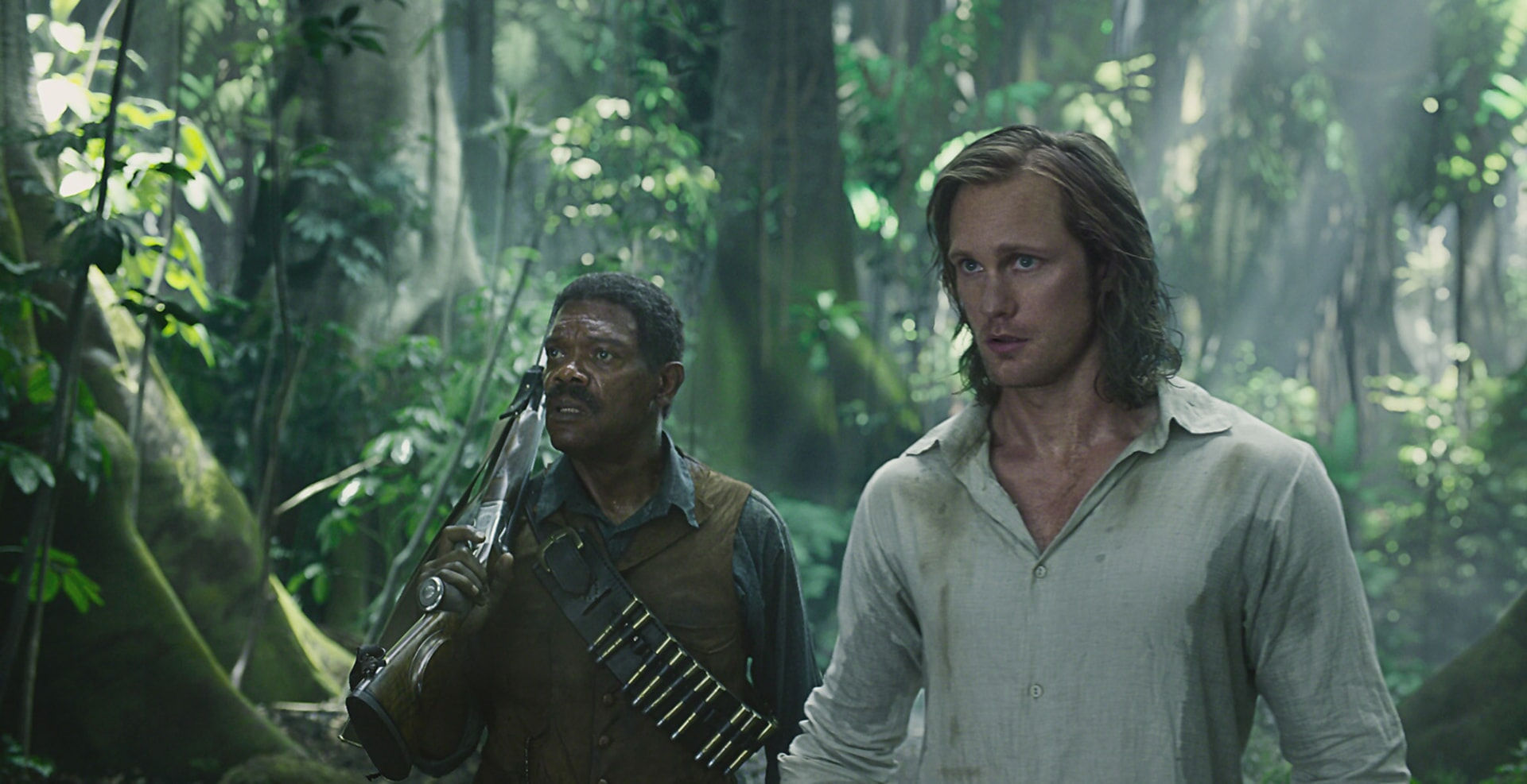 SAMUEL L. JACKSON as George Washington Williams and ALEXANDER SKARSGÅRD as Tarzan