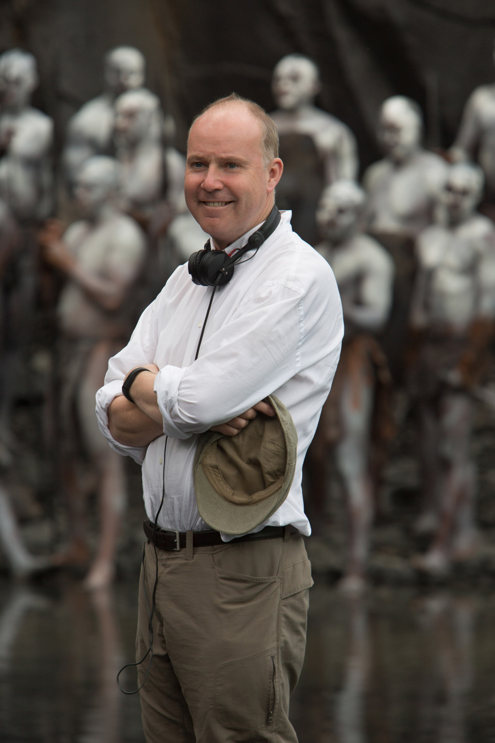 Director DAVID YATES on the set