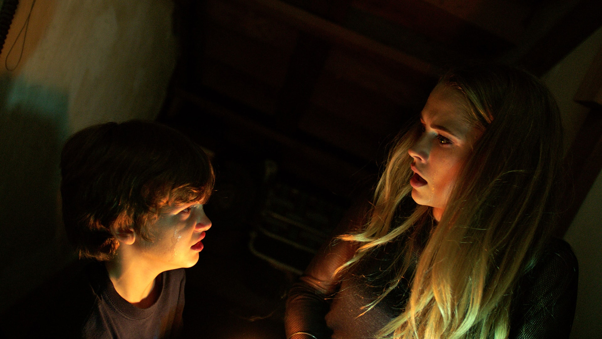 GABRIEL BATEMAN as Martin and TERESA PALMER as Rebecca