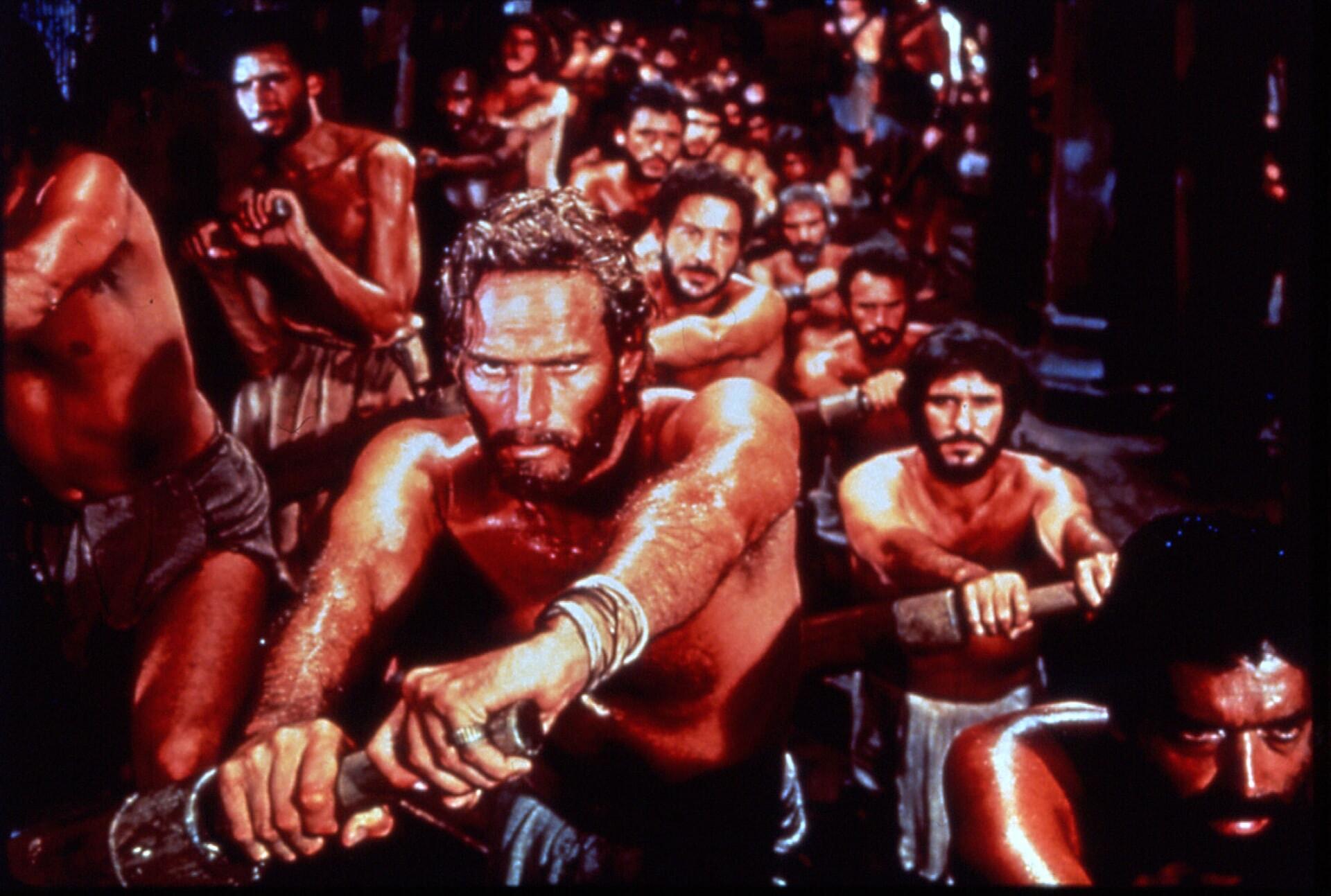 Charlton Heston and Maxwell Shaw in Ben-Hur (1959)