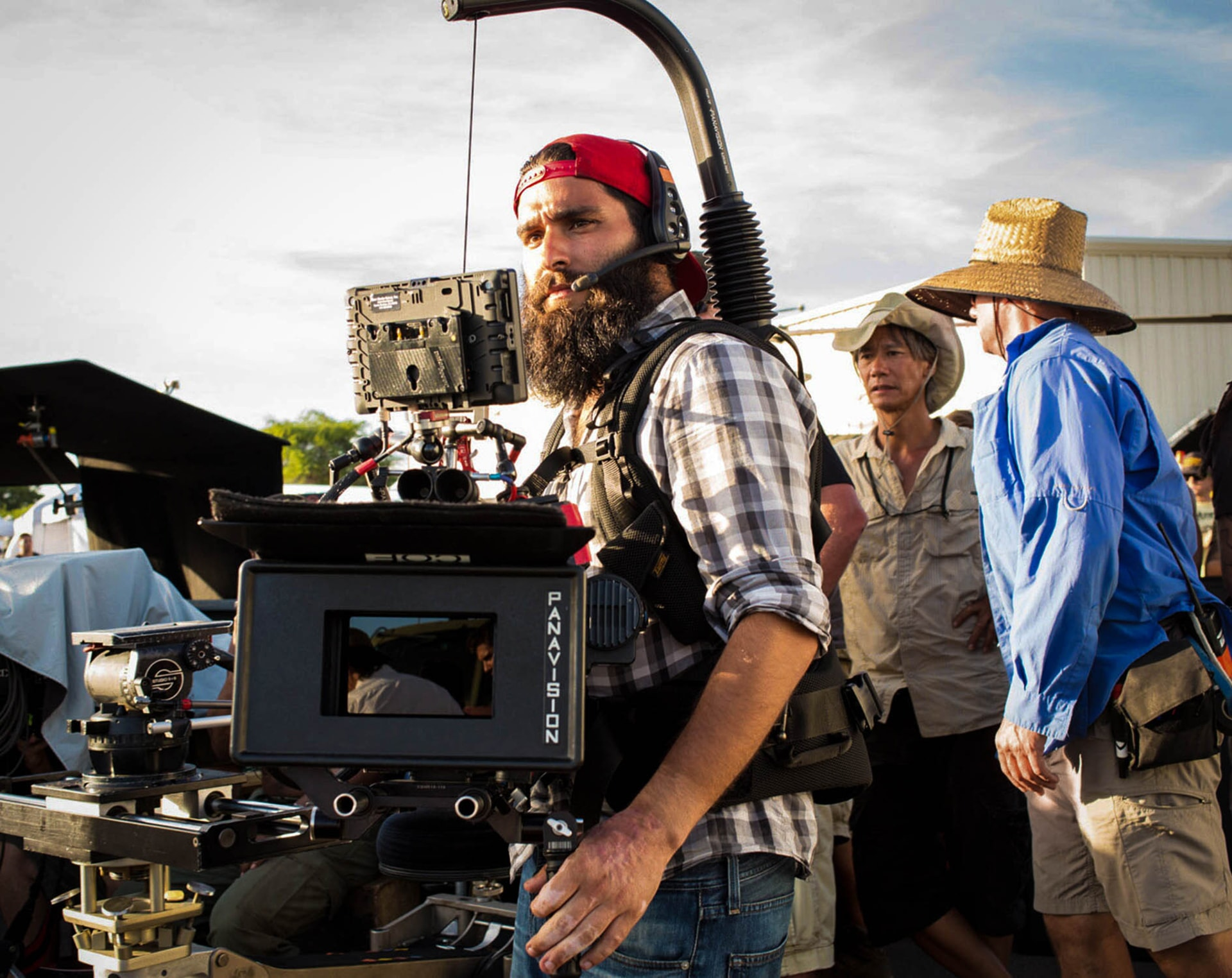 """Director JORDAN VOGT-ROBERTS on the set of Warner Bros. Pictures', Legendary Pictures' and Tencent Pictures' action adventure """"KONG: SKULL ISLAND,"""" a Warner Bros. Pictures release."""