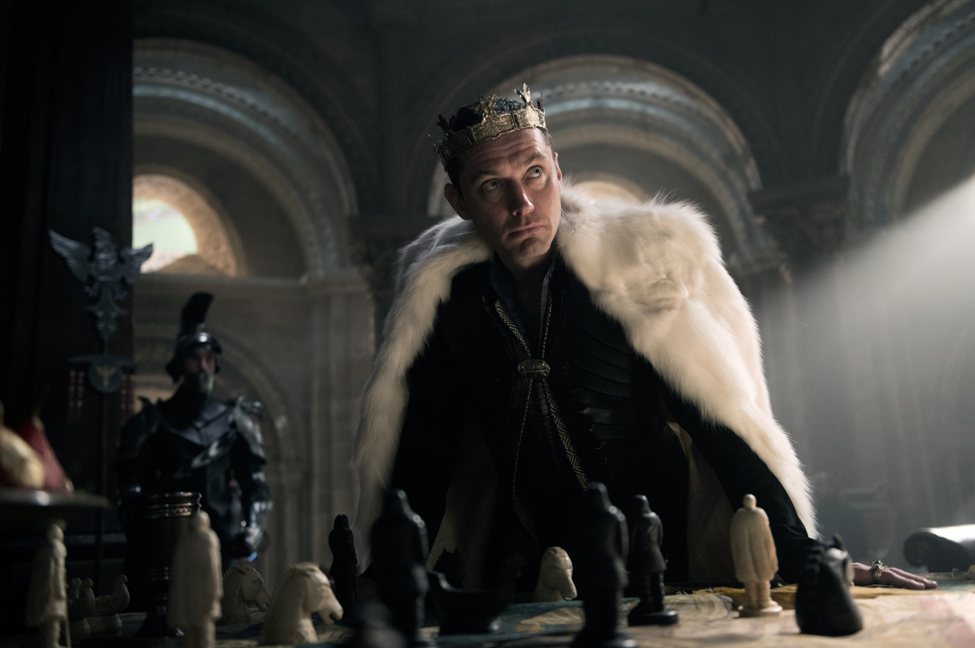 "JUDE LAW as Vortigern in Warner Bros. Pictures' and Village Roadshow Pictures' fantasy action adventure ""KING ARTHUR: LEGEND OF THE SWORD,"" distributed worldwide by Warner Bros. Pictures and in select territories by Village Roadshow Pictures."