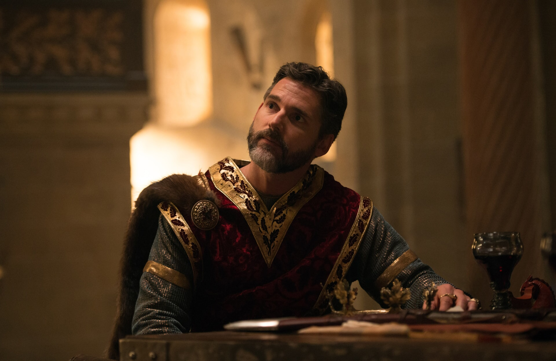 "ERIC BANA as Uther in Warner Bros. Pictures' and Village Roadshow Pictures' fantasy action adventure ""KING ARTHUR: LEGEND OF THE SWORD,"" distributed worldwide by Warner Bros. Pictures and in select territories by Village Roadshow Pictures."