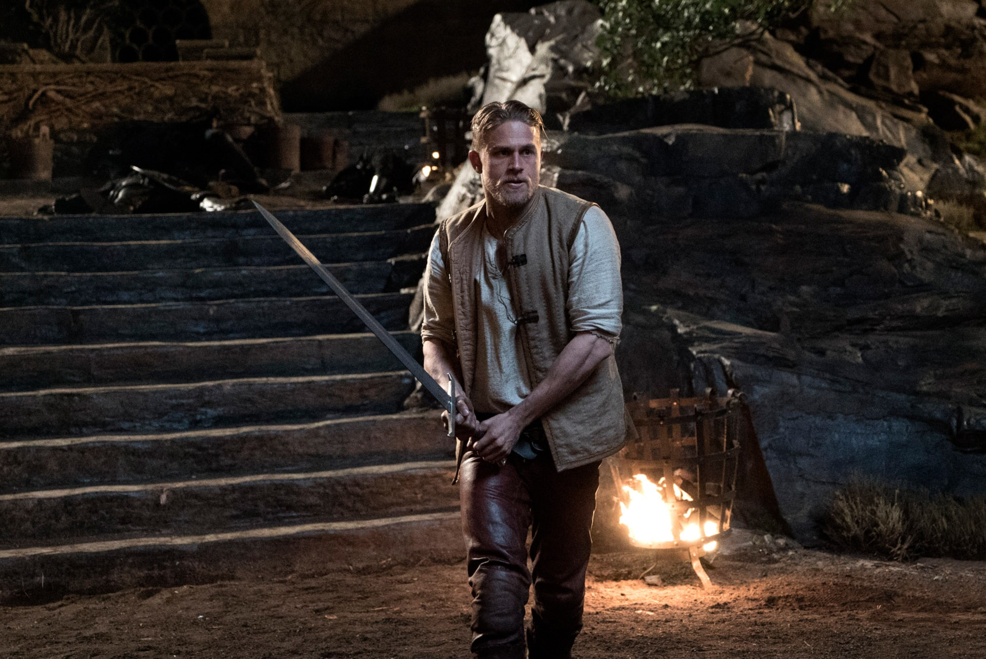 "CHARLIE HUNNAM as Arthur in Warner Bros. Pictures' and Village Roadshow Pictures' fantasy action adventure ""KING ARTHUR: LEGEND OF THE SWORD,"" distributed worldwide by Warner Bros. Pictures and in select territories by Village Roadshow Pictures."