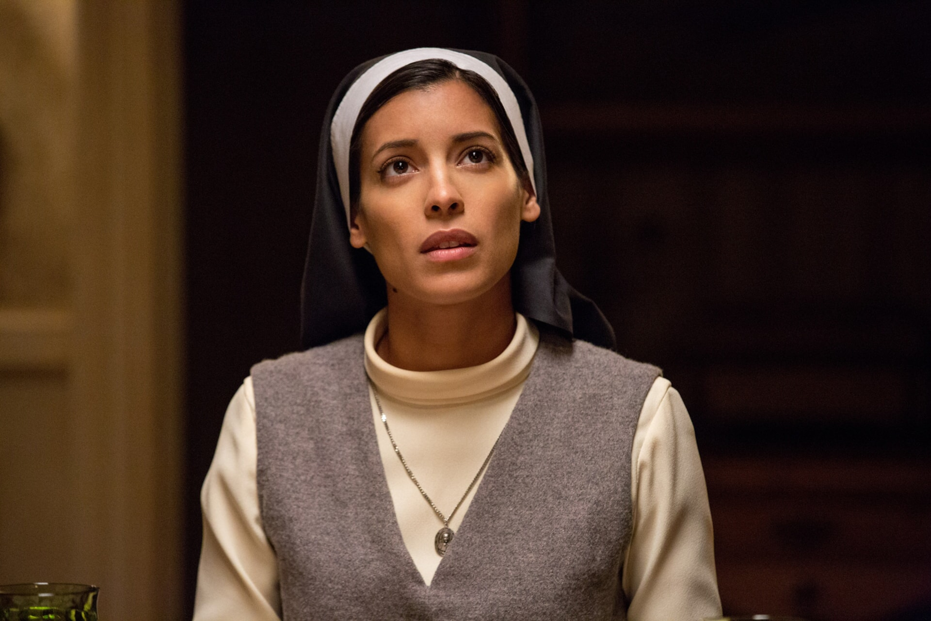 """STEPHANIE SIGMAN as Sister Charlotte in New Line Cinema's supernatural thriller """"ANNABELLE: CREATION,"""" a Warner Bros. Pictures release."""