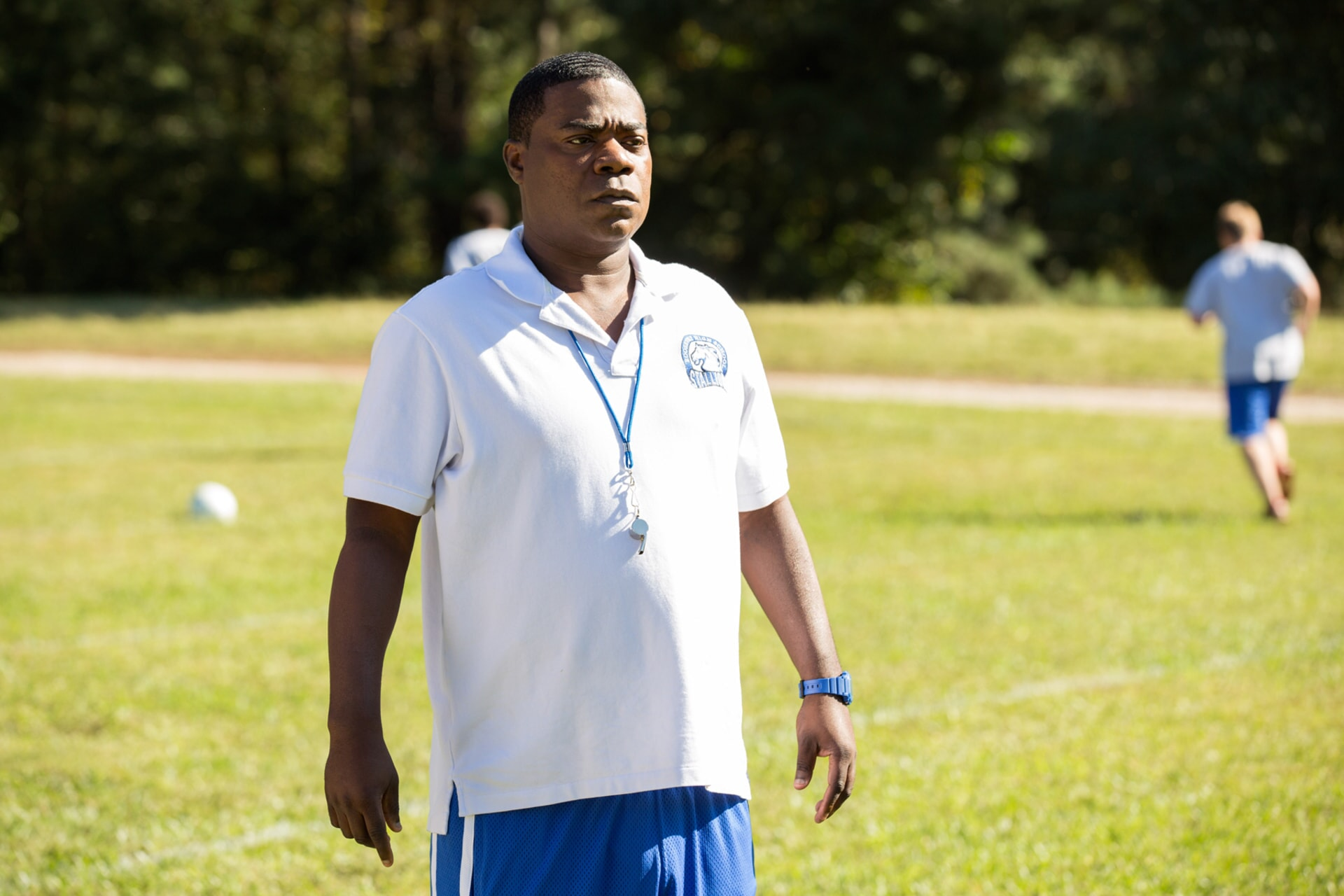 """TRACY MORGAN as Coach Crawford in the New Line Cinema and Village Roadshow Pictures comedy """"FIST FIGHT,"""" a Warner Bros. Pictures release."""