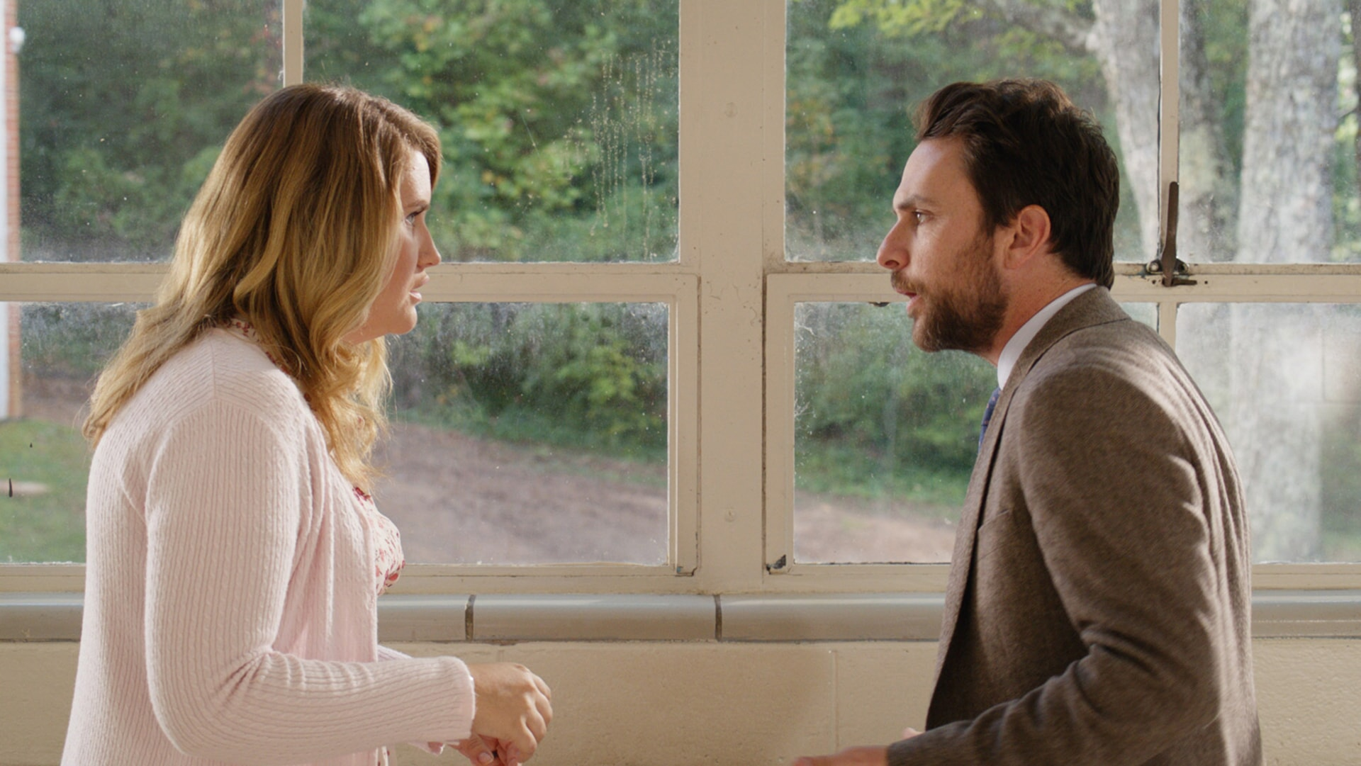 "JILLIAN BELL as Holly and CHARLIE DAY as Andy Campbell in the New Line Cinema and Village Roadshow Pictures comedy ""FIST FIGHT,"" a Warner Bros. Pictures release."