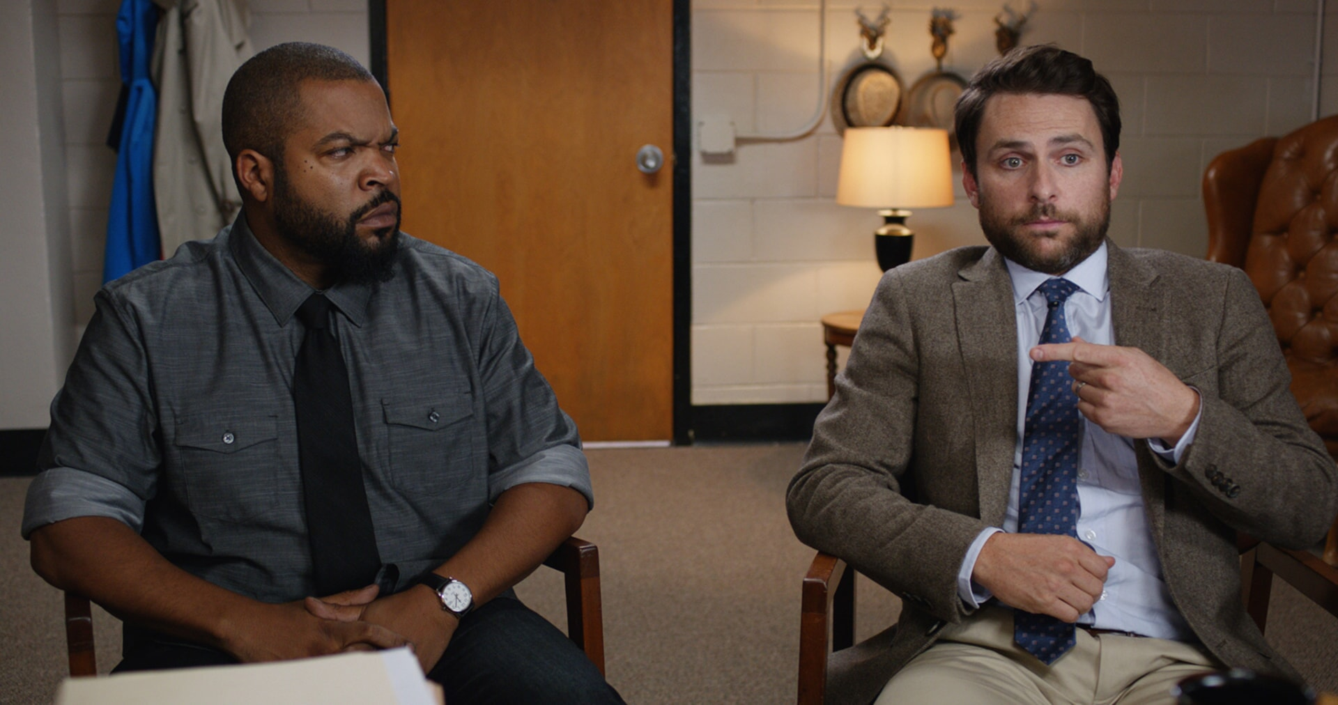 "ICE CUBE as Ron Strickland and CHARLIE DAY as Andy Campbell in the New Line Cinema and Village Roadshow Pictures comedy ""FIST FIGHT,"" a Warner Bros. Pictures release."
