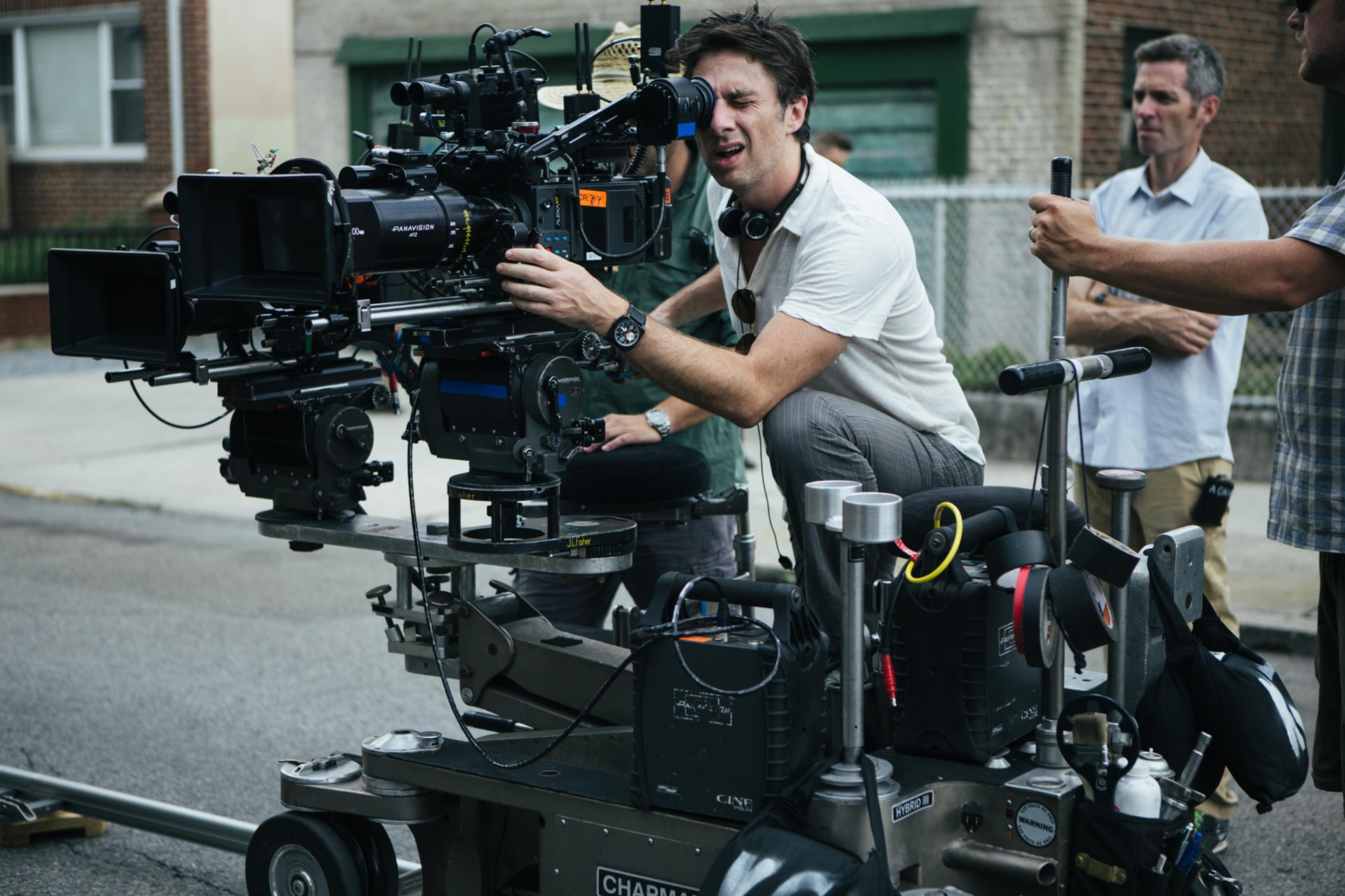 "Director ZACH BRAFF on the set of the New Line Cinema and Village Roadshow comedy ""GOING IN STYLE,"" a Warner Bros. Pictures release."