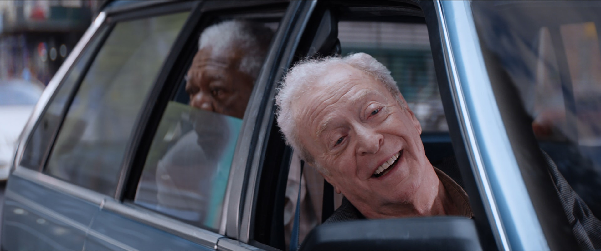 "MORGAN FREEMAN as Willie Davis and MICHAEL CAINE as Joe Harding in the New Line Cinema and Village Roadshow comedy ""GOING IN STYLE,"" a Warner Bros. Pictures release."
