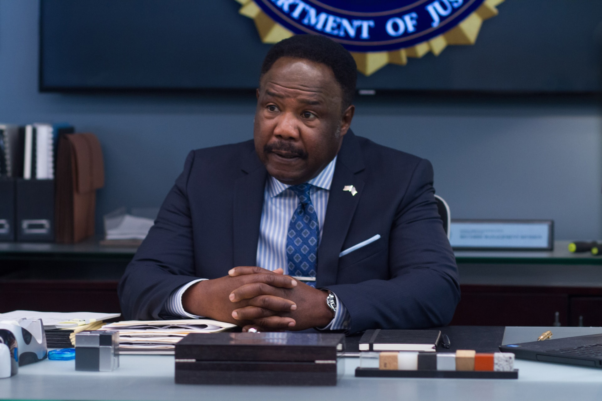"""ISIAH WHITLOCK JR. as Peterson in Warner Bros. Pictures' action comedy """"CHIPS,"""" a Warner Bros. Pictures release."""