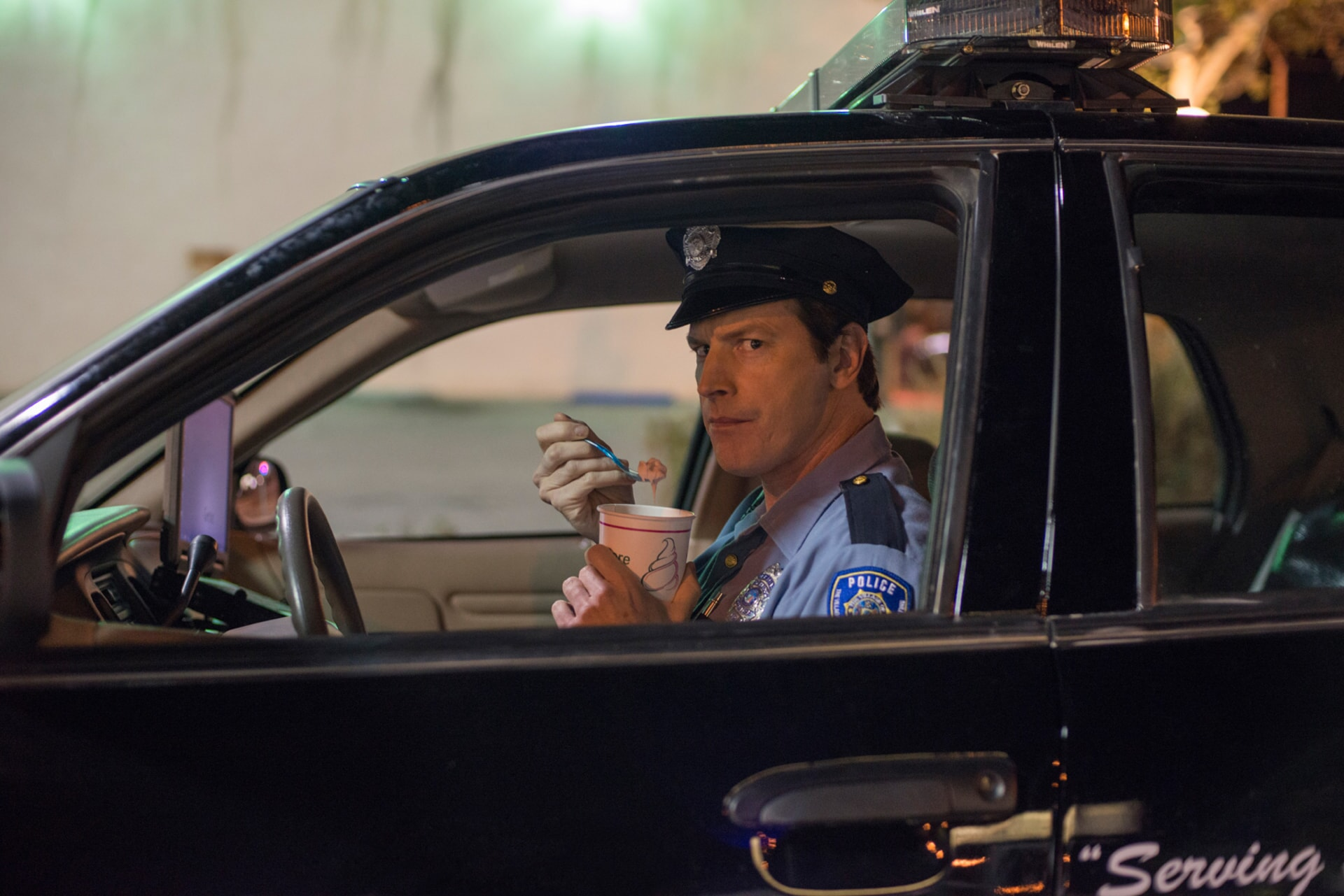 "ROB HUEBEL as Officer Chandler in the New Line Cinema and Village Roadshow Pictures comedy ""THE HOUSE,"" a Warner Bros. Pictures release."
