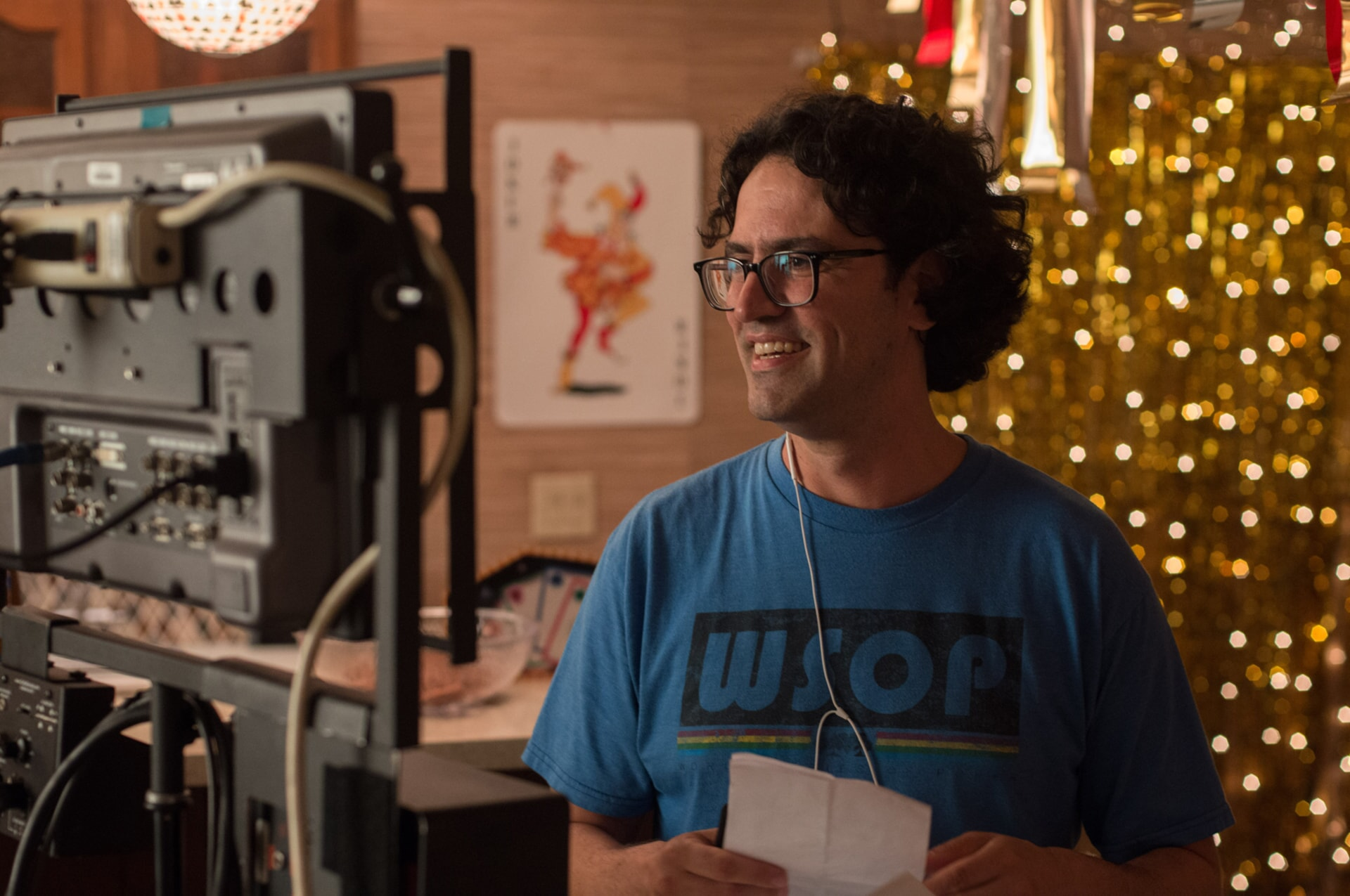 "Director/writer/producer ANDREW JAY COHEN on the set of the New Line Cinema and Village Roadshow Pictures comedy ""THE HOUSE,"" a Warner Bros. Pictures release."
