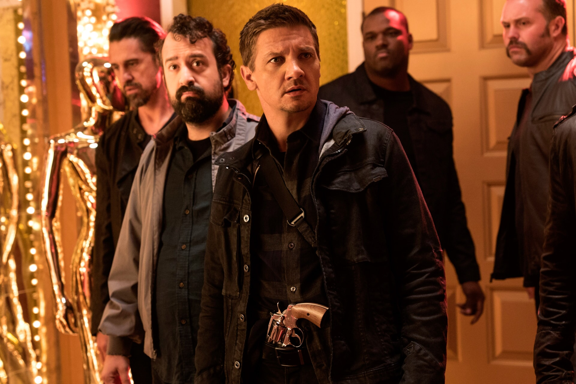"STEVE ZISSIS as Carl Shackler and JEREMY RENNER as Tommy in the New Line Cinema and Village Roadshow Pictures comedy ""THE HOUSE,"" a Warner Bros. Pictures release."