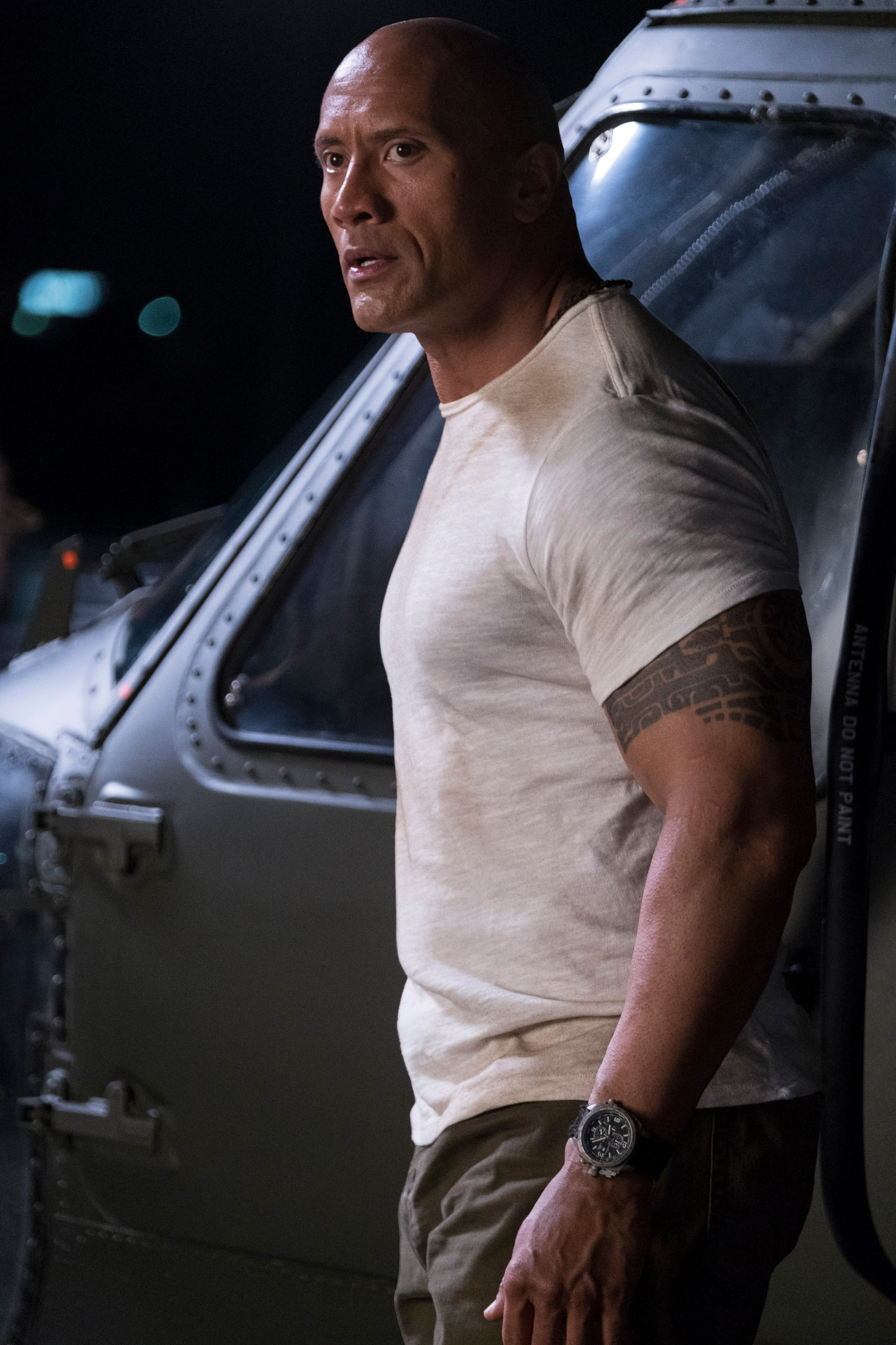 """DWAYNE JOHNSON as Davis Okoye in New Line Cinema's and ASAP Entertainment's action adventure """"RAMPAGE,"""" a Warner Bros. Pictures release."""