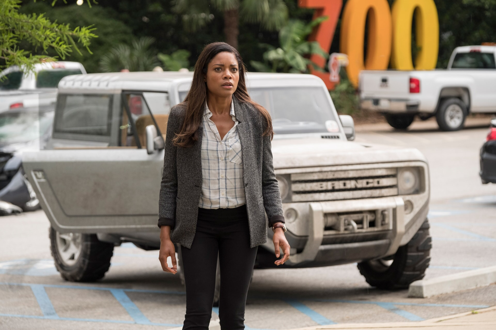 """NAOMIE HARRIS as Dr. Kate Caldwell in New Line Cinema's and ASAP Entertainment's action adventure """"RAMPAGE,"""" a Warner Bros. Pictures release."""