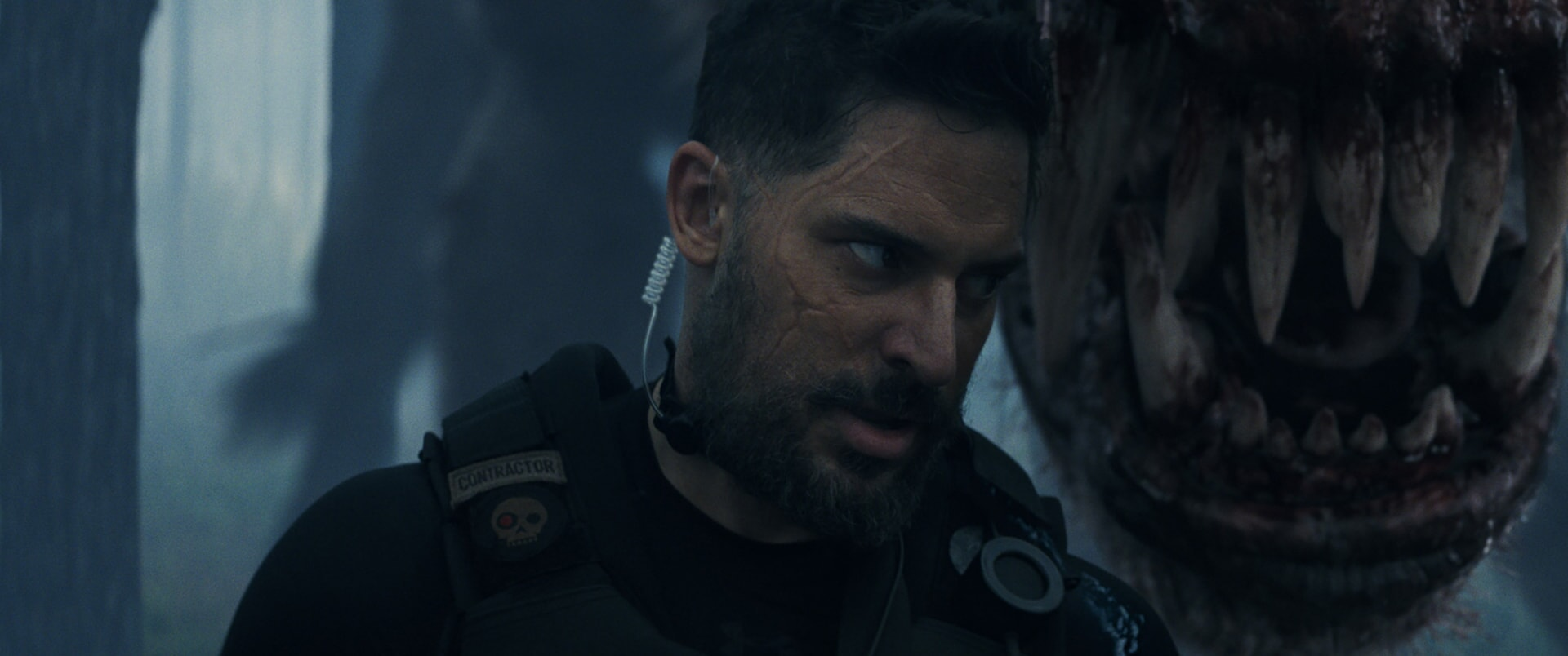 """JOE MANGANIELLO as Burke in New Line Cinema's and ASAP Entertainment's action adventure """"RAMPAGE,"""" a Warner Bros. Pictures release."""