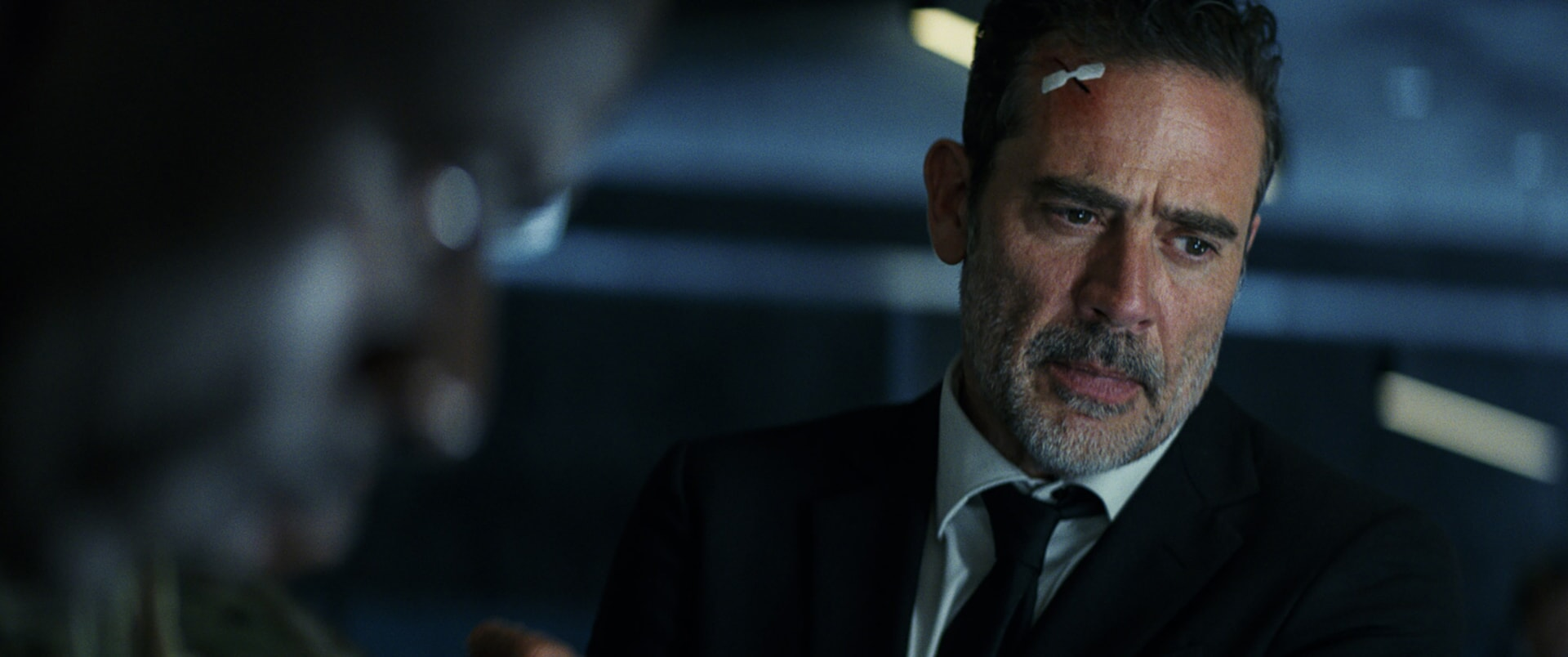"""JEFFREY DEAN MORGAN as Harvey Russell in New Line Cinema's and ASAP Entertainment's action adventure """"RAMPAGE,"""" a Warner Bros. Pictures release."""