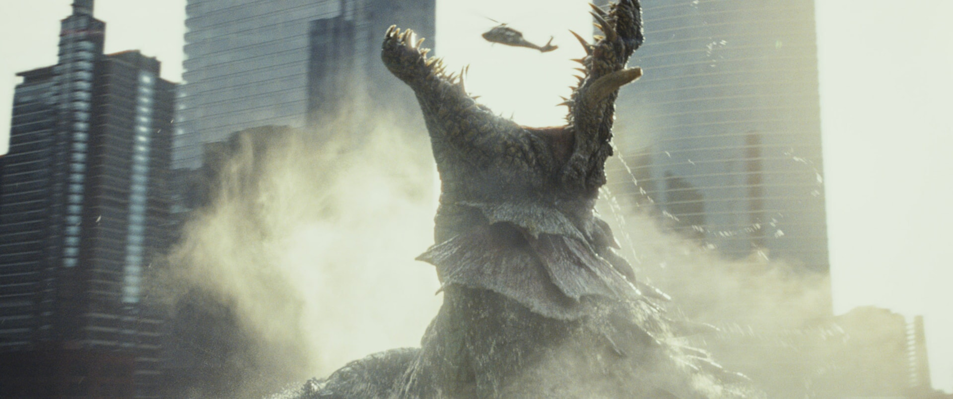 """A scene from New Line Cinema's and ASAP Entertainment's action adventure """"RAMPAGE,"""" a Warner Bros. Pictures release."""