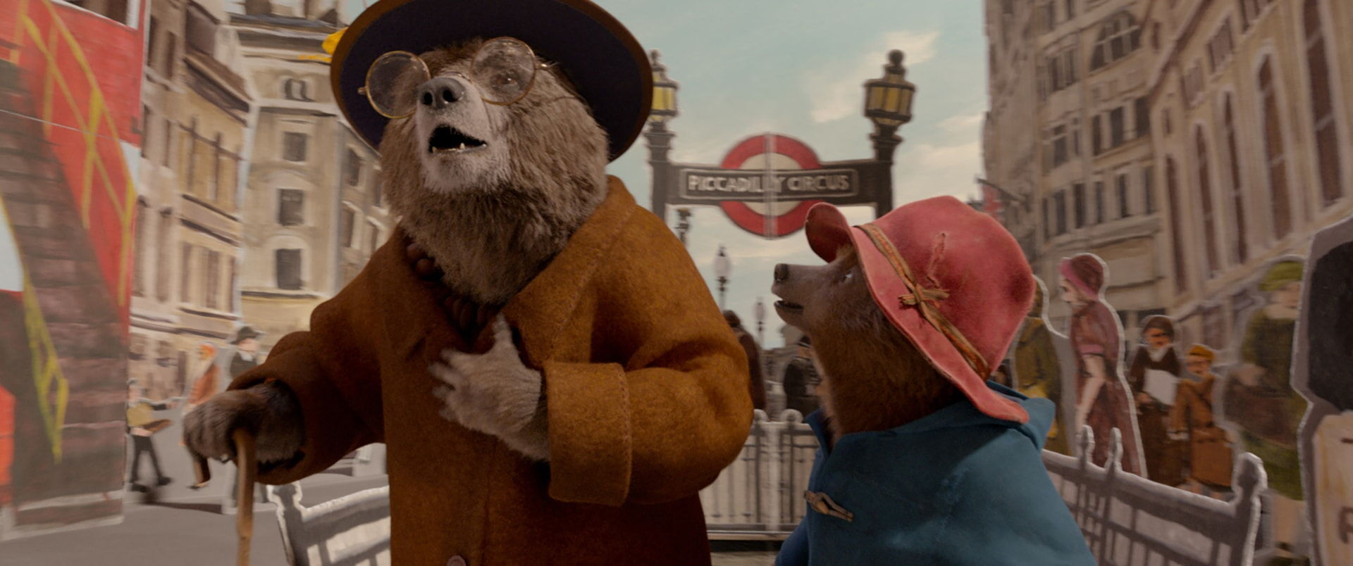 """Aunt Lucy voiced by IMELDA STAUNTON and Paddington voiced by BEN WHISHAW in the family adventure """"PADDINGTON 2,"""" from Warner Bros. Pictures and STUDIOCANAL, in association with Anton Capital Entertainment S.C.A., a Warner Bros. Pictures release."""