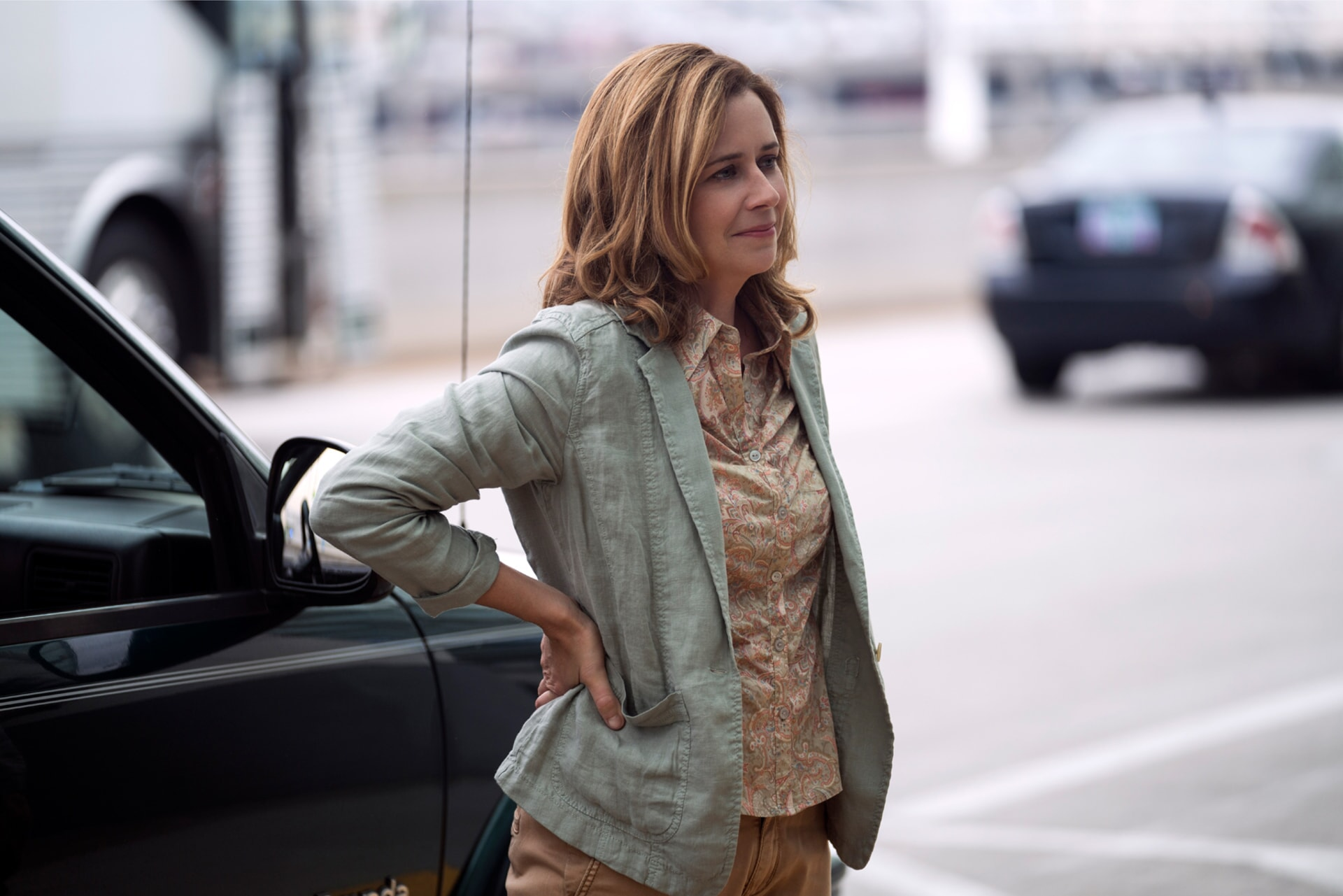 """JENNA FISCHER as Heidi in Warner Bros. Pictures' and Village Roadshow Pictures' """"THE 15:17 TO PARIS,"""" a Warner Bros. Pictures release."""