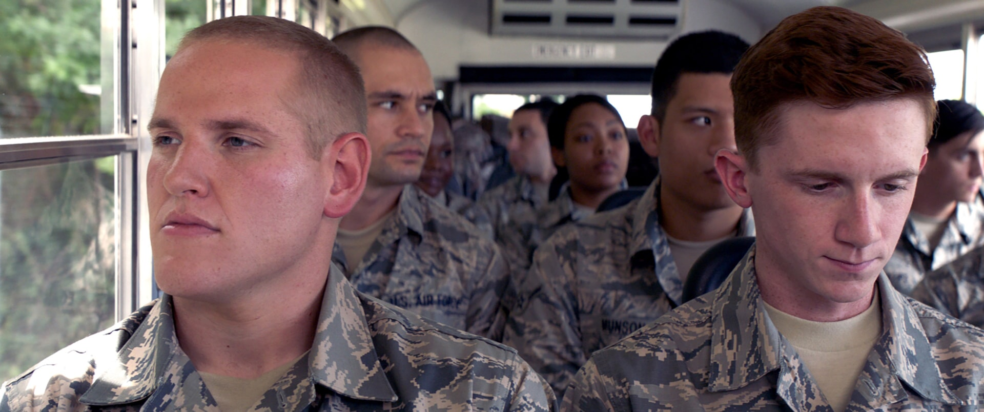 """SPENCER STONE as Spencer and SETH MERIWETHER as Francis in Warner Bros. Pictures' and Village Roadshow Pictures' """"THE 15:17 TO PARIS,"""" a Warner Bros. Pictures release."""