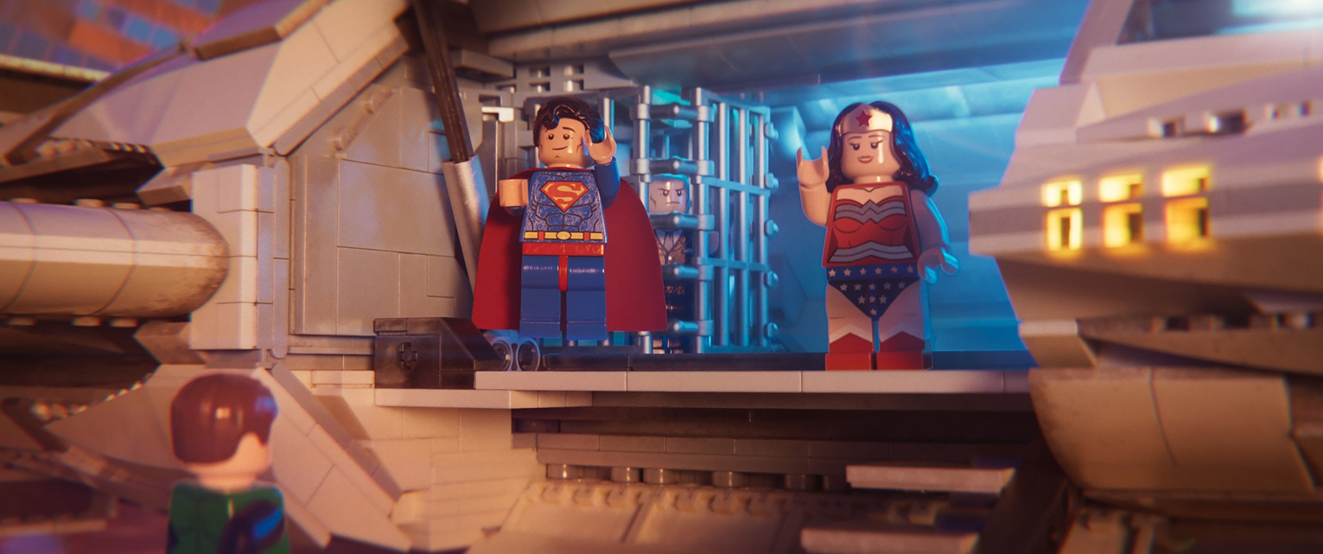 (L-R) Superman (CHANNING TATUM) and Wonder Woman (COBIE SMULDERS)