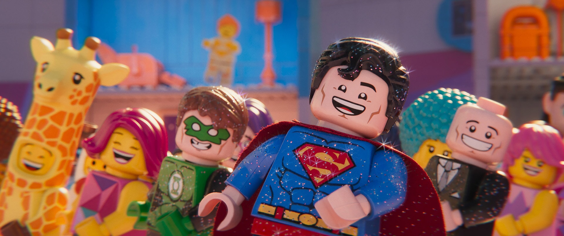(L-R) Green Lantern (JONAH HILL), Superman (CHANNING TATUM) and Lex Luthor (IKE BARINHOLTZ)