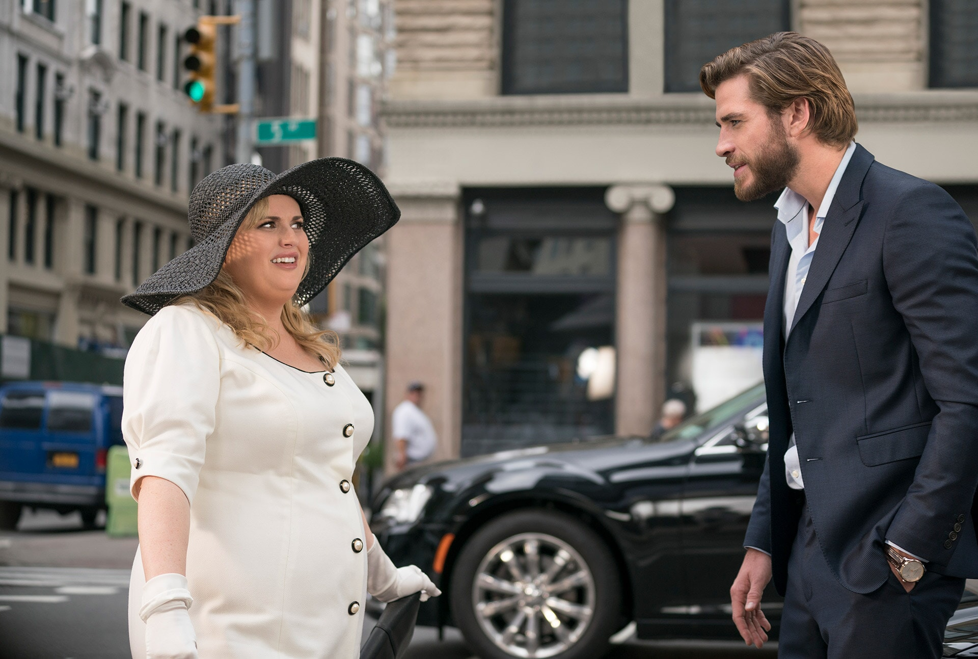 (L-R) REBEL WILSON as Natalie and LIAM HEMSWORTH as Blake