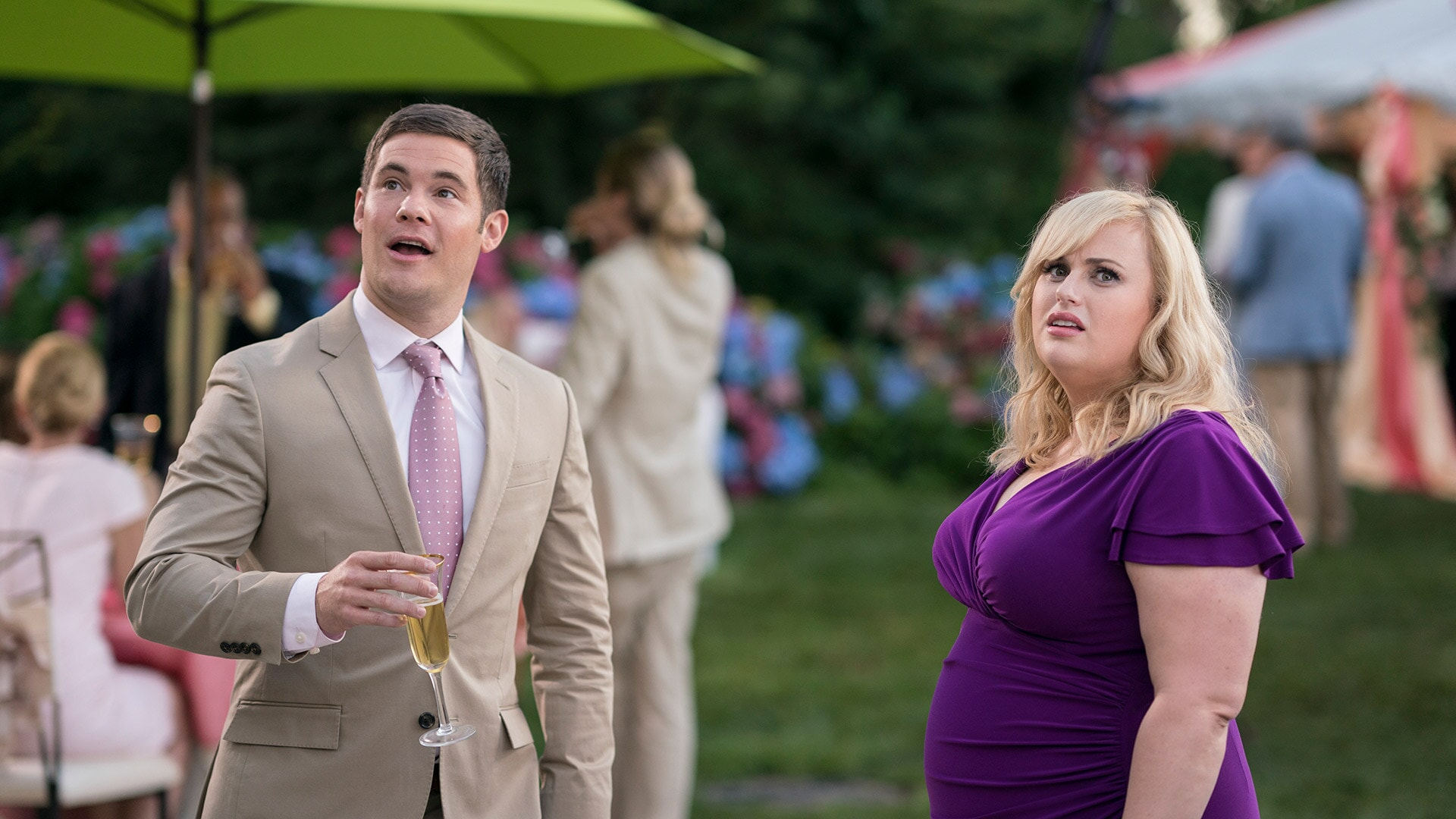 (L-R) ADAM DEVINE as Josh and REBEL WILSON as Natalie