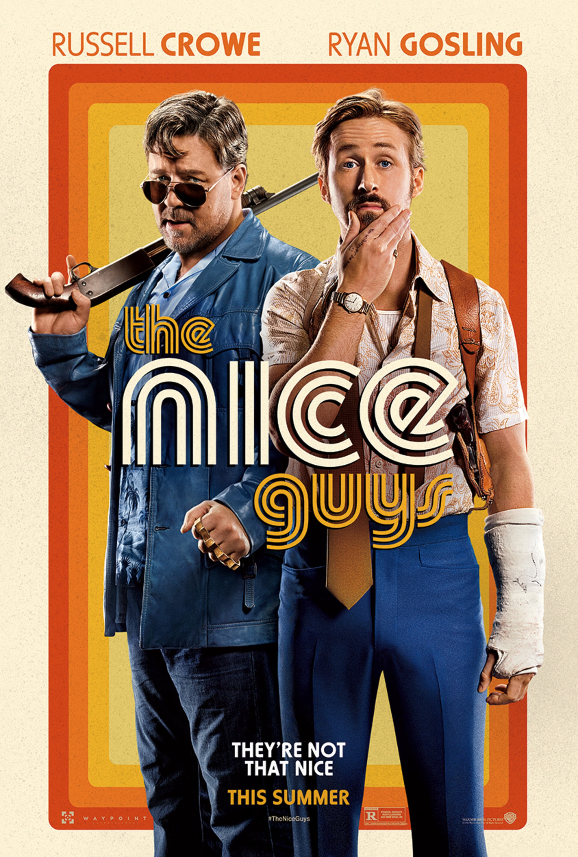 The Nice Guys Poster 2 - Russell Crowe and Ryan Gosling