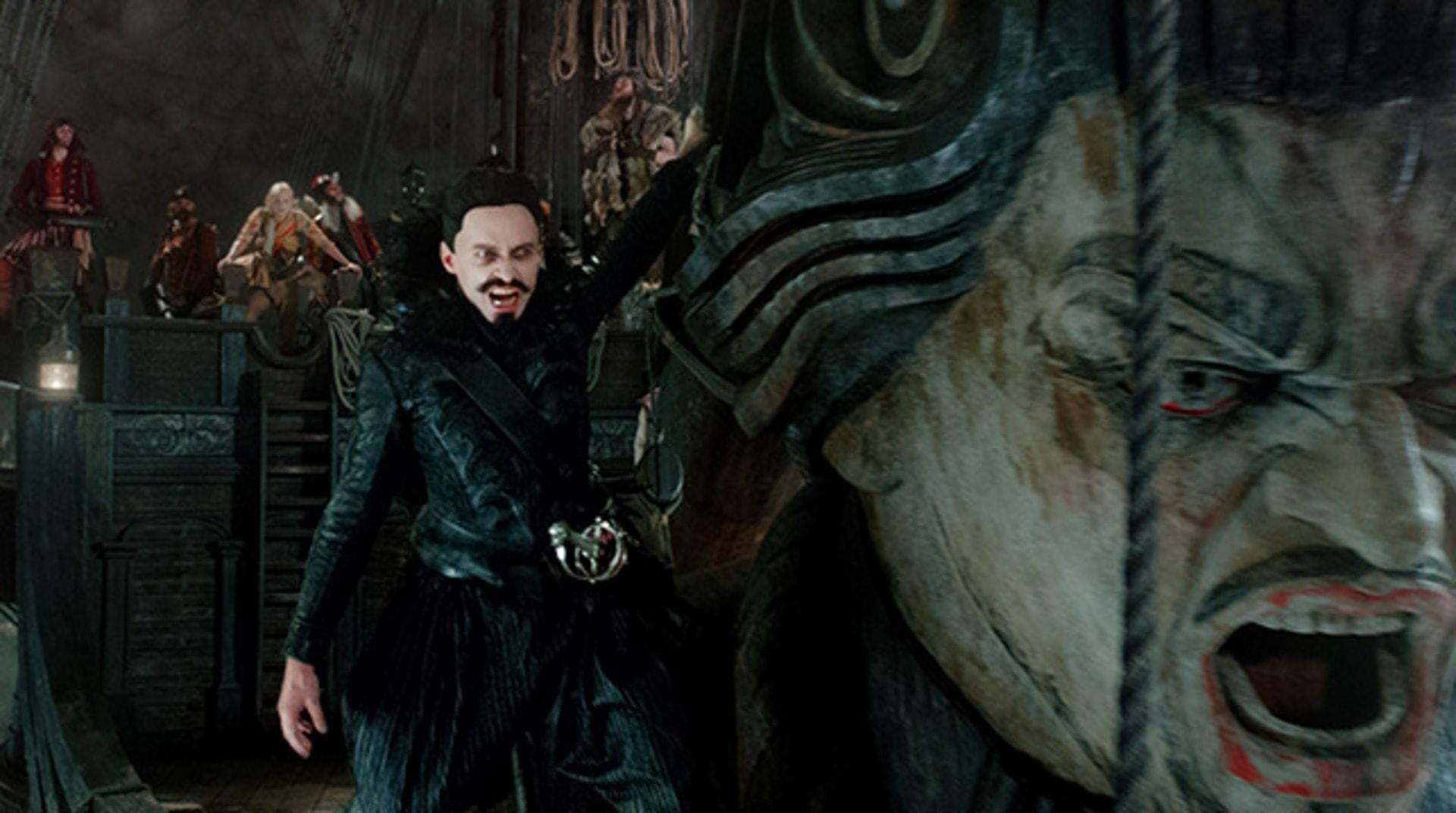 "HUGH JACKMAN as Blackbeard in Warner Bros. Pictures' and RatPac-Dune Entertainment's action adventure ""PAN,"" a Warner Bros. Pictures release."