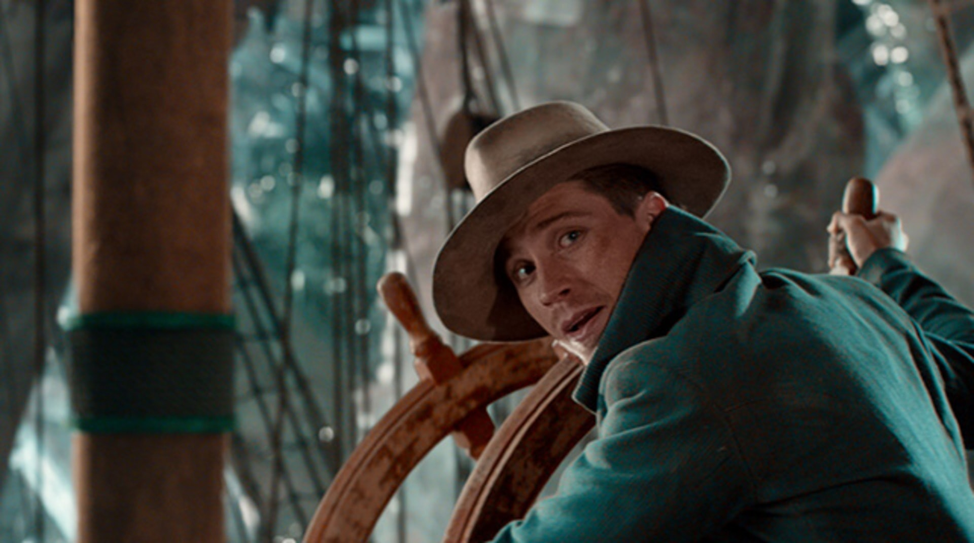 """GARRETT HEDLUND as Hook in Warner Bros. Pictures' and RatPac-Dune Entertainment's action adventure """"PAN,"""" a Warner Bros. Pictures release."""