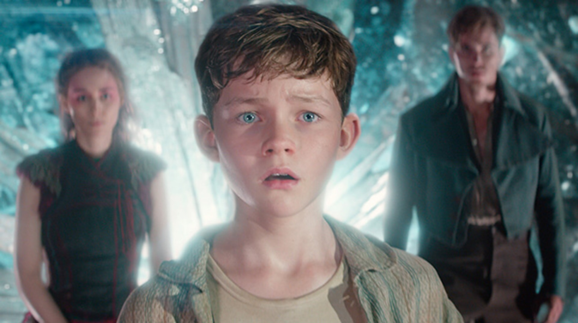 """ROONEY MARA as Tiger Lily, LEVI MILLER as Peter and GARRETT HEDLUND as Hook in Warner Bros. Pictures' and RatPac-Dune Entertainment's action adventure """"PAN,"""" a Warner Bros. Pictures release."""