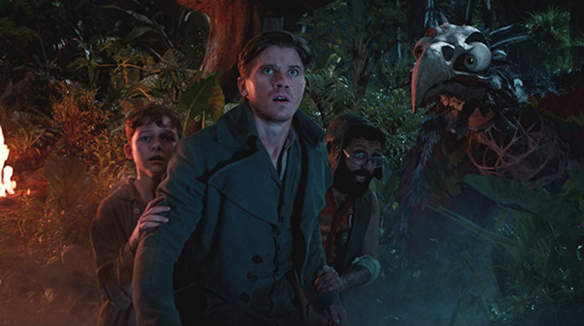 "LEVI MILLER as Peter, GARRETT HEDLUND as Hook and ADEEL AKHTAR as Sam Smiegel in Warner Bros. Pictures' and RatPac-Dune Entertainment's action adventure ""PAN,"" a Warner Bros. Pictures release."