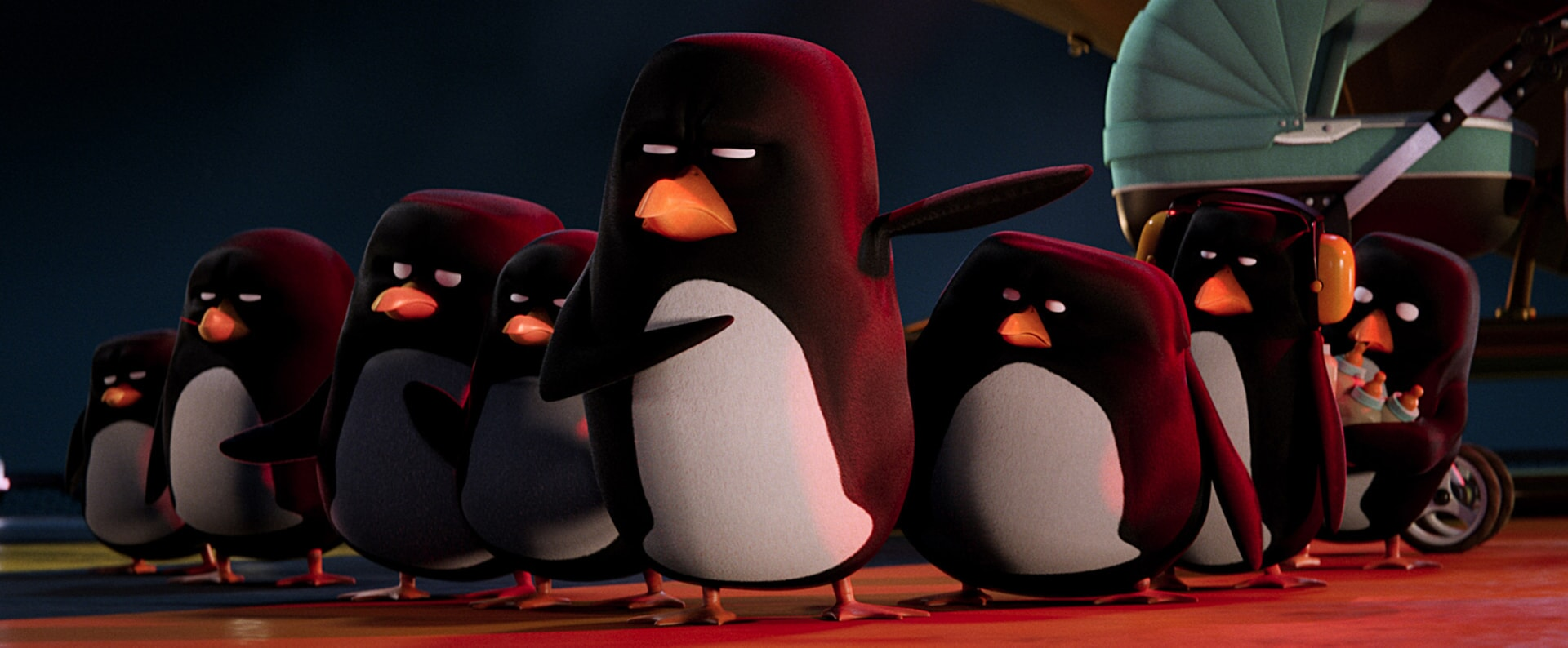 "The penguins in the new animated adventure ""STORKS,"" a Warner Bros. Pictures release."