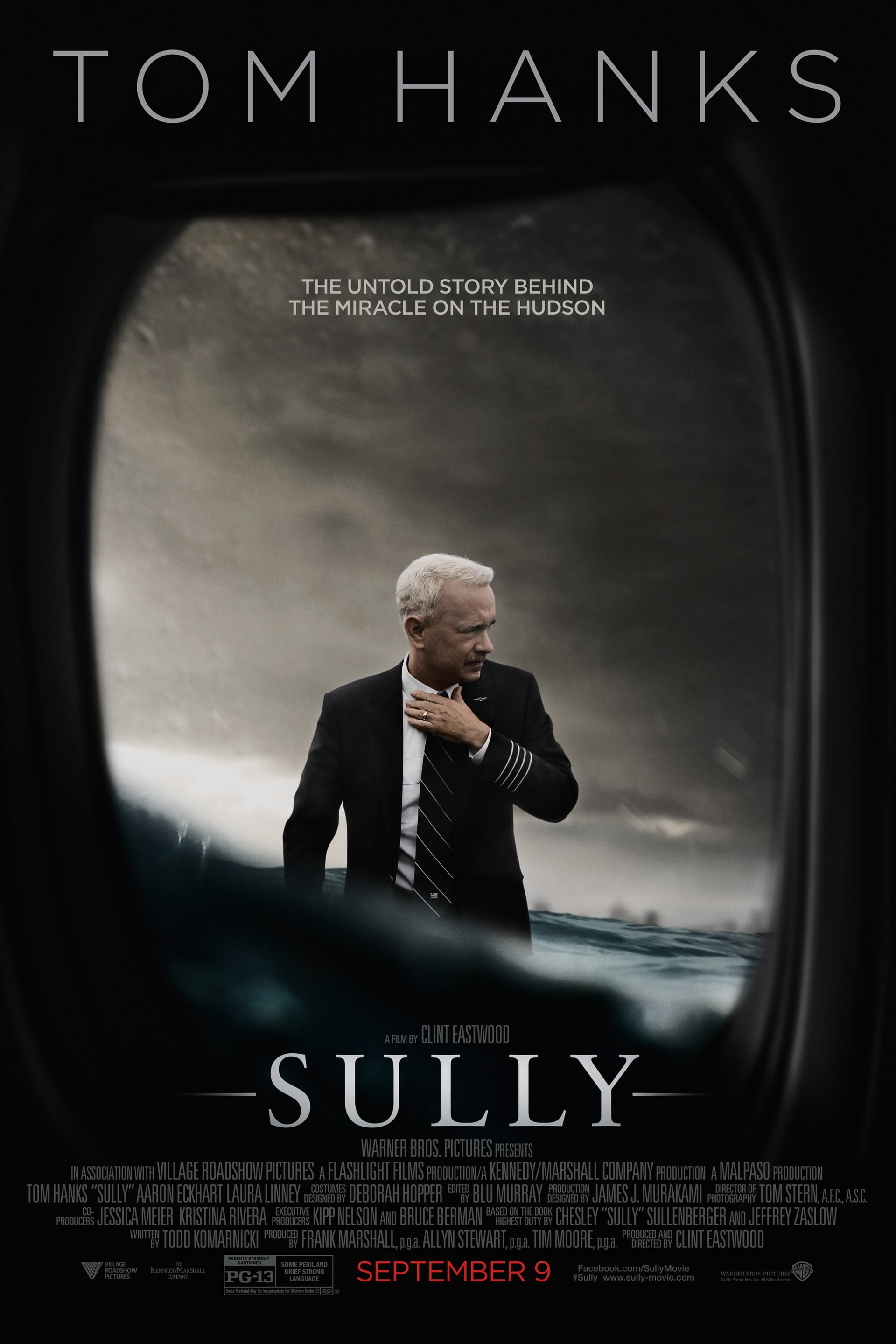 Sully poster with Tom Hanks as Captain Sully