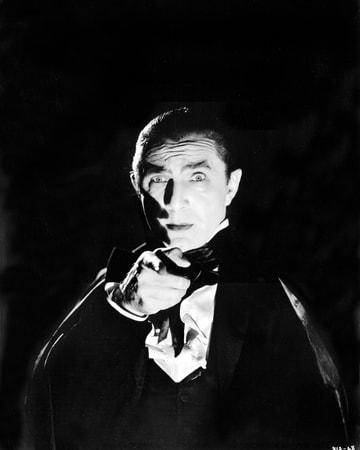 Medium publicity shot of Bela Lugosi as Count Mora pointing his finger.
