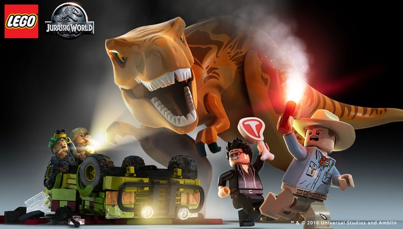 LEGO Jurassic World Dinosaur chase