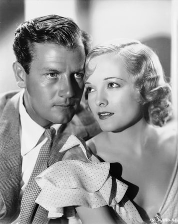 Medium publicity shot of Joel McCrea as Blacky Gorman and Marian Nixon as Glory Franklyn.