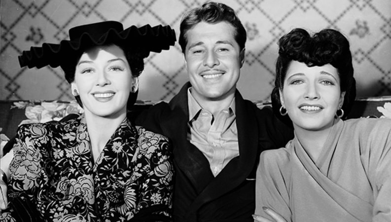 Kay Francis, Don Ameche, Rosalind Russell in The Feminine Touch