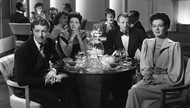 Don Ameche, Rosalind Russell, Van Heflin and Kay Francis in The Feminine Touch